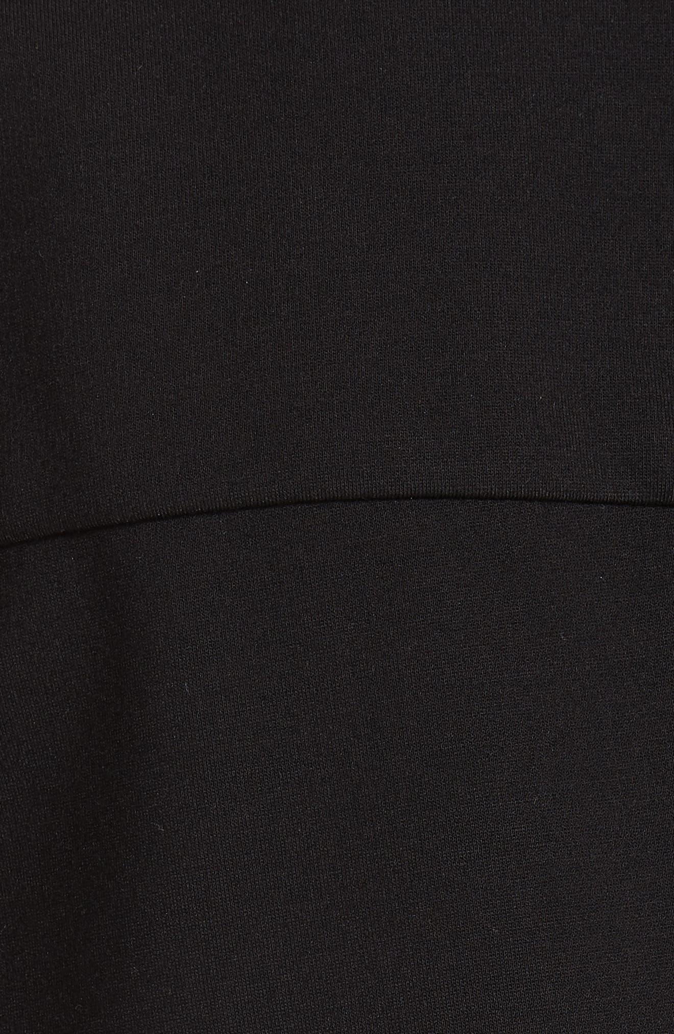 TIBI,                             Asymmetrical Shirtdress,                             Alternate thumbnail 5, color,                             001