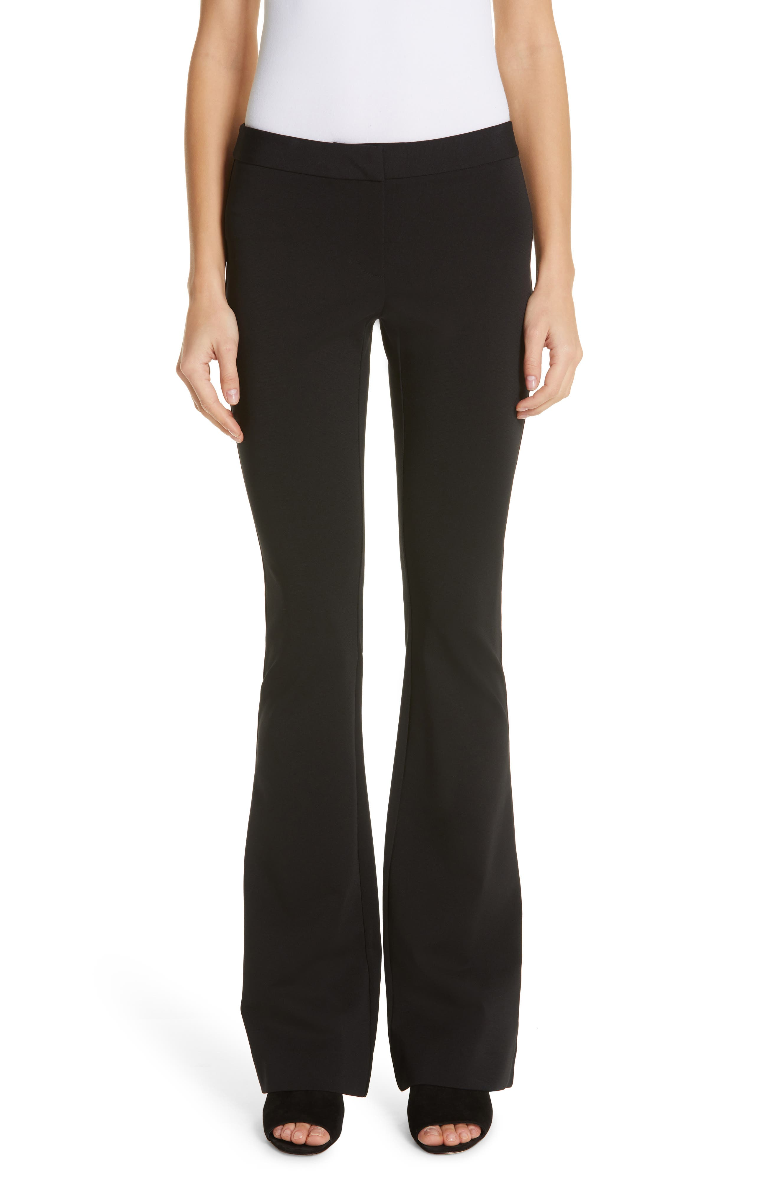 LAFAYETTE 148 NEW YORK Waldorf Flare Pants, Main, color, BLACK