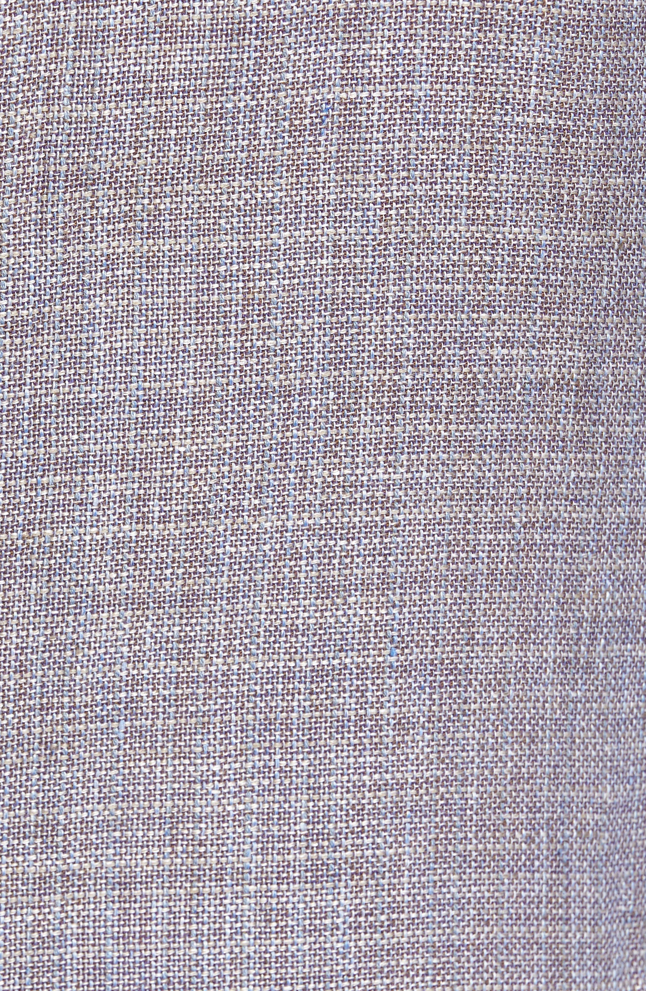JKT NEW YORK,                             Trim Fit Wool & Linen Blazer,                             Alternate thumbnail 5, color,                             020