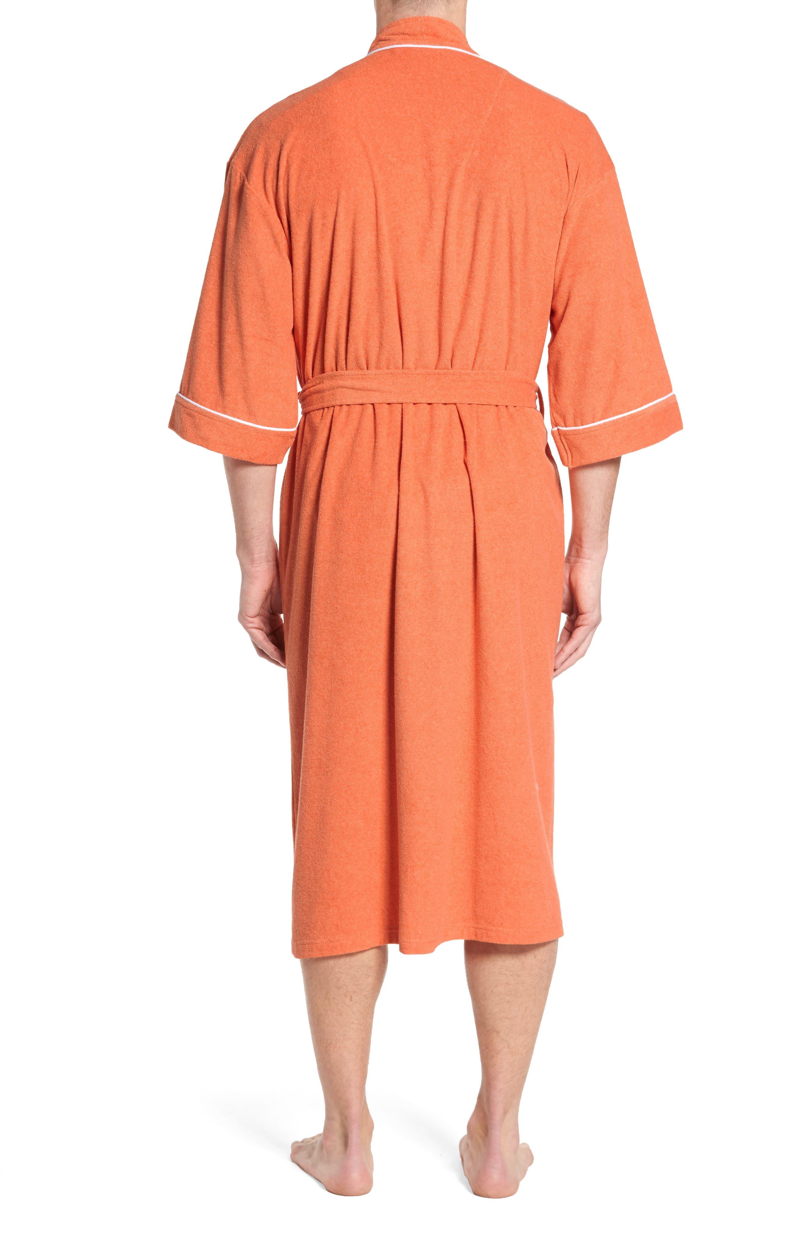 Kimono Cotton Blend Robe,                             Alternate thumbnail 4, color,