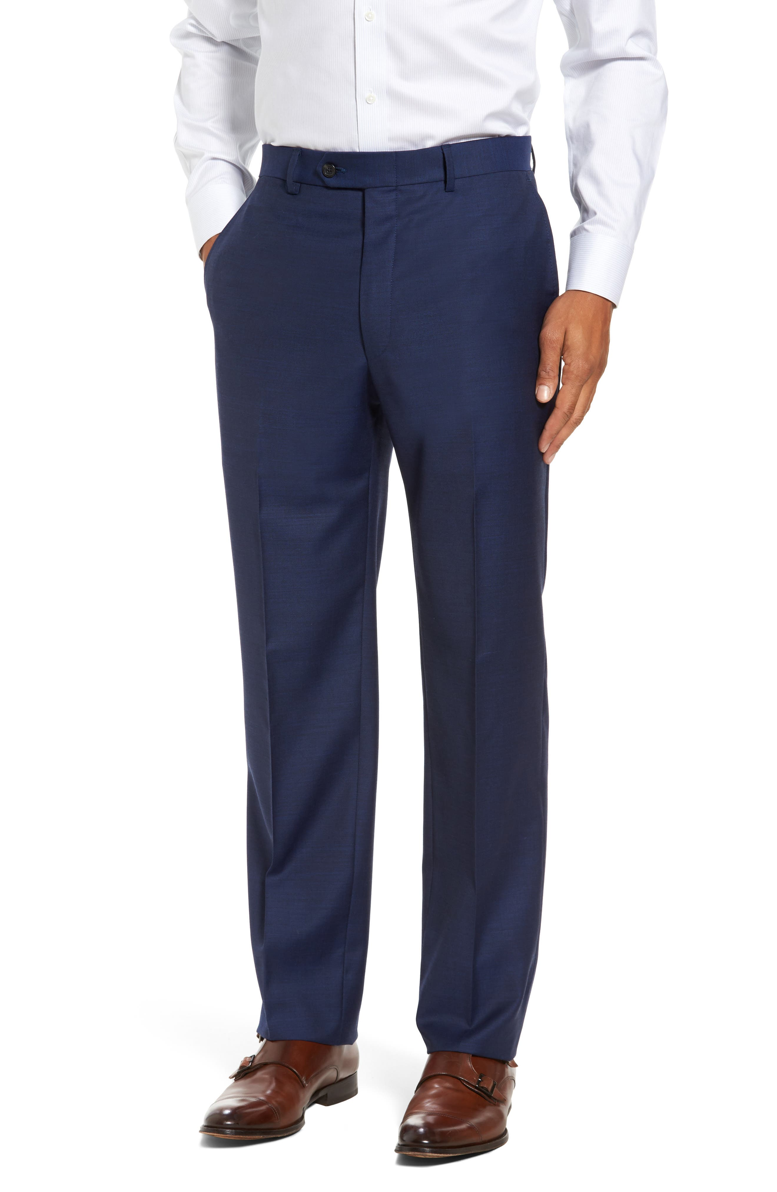 Classic Fit Solid Wool Suit,                             Alternate thumbnail 6, color,                             401