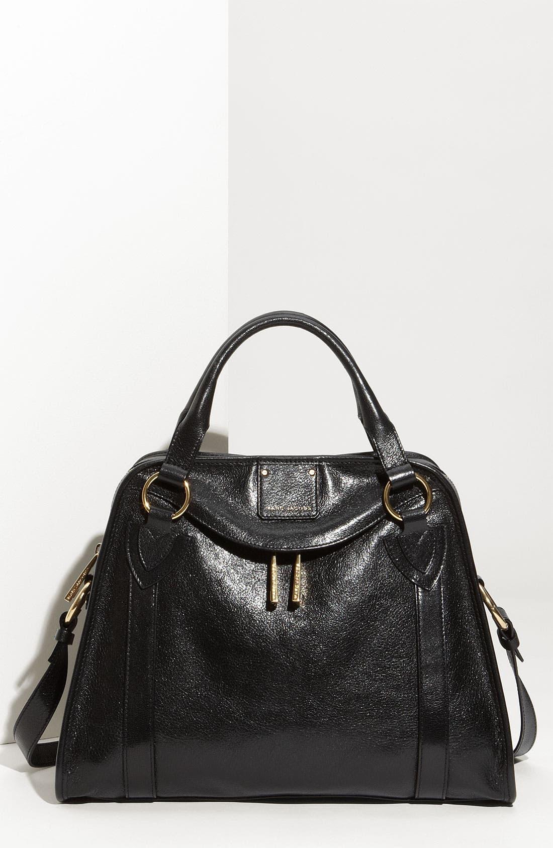 'Classic Wellington' Leather Satchel,                             Main thumbnail 2, color,
