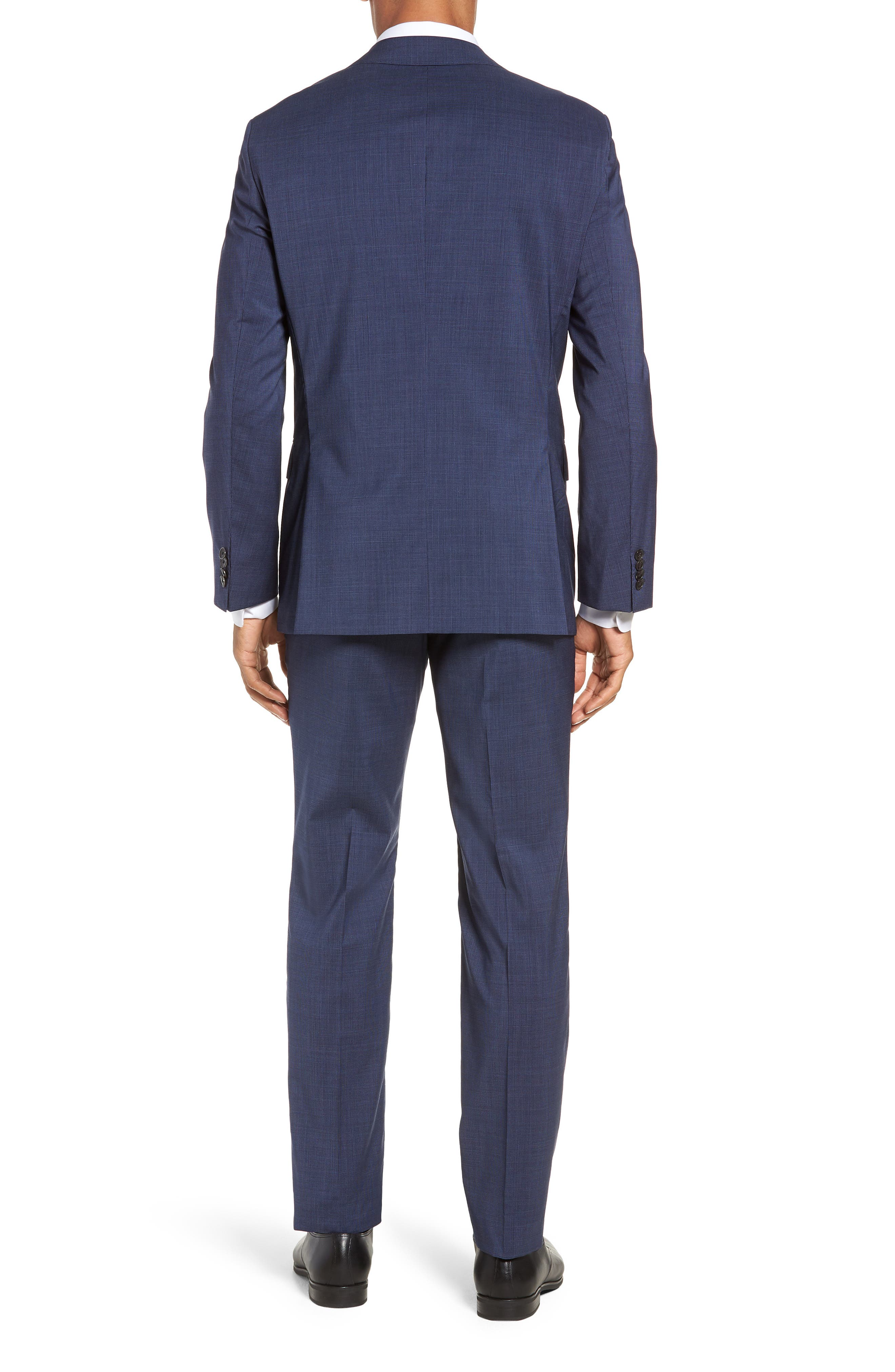 Johnstons/Lenon Classic Fit Houndstooth Wool Suit,                             Alternate thumbnail 2, color,                             BLUE