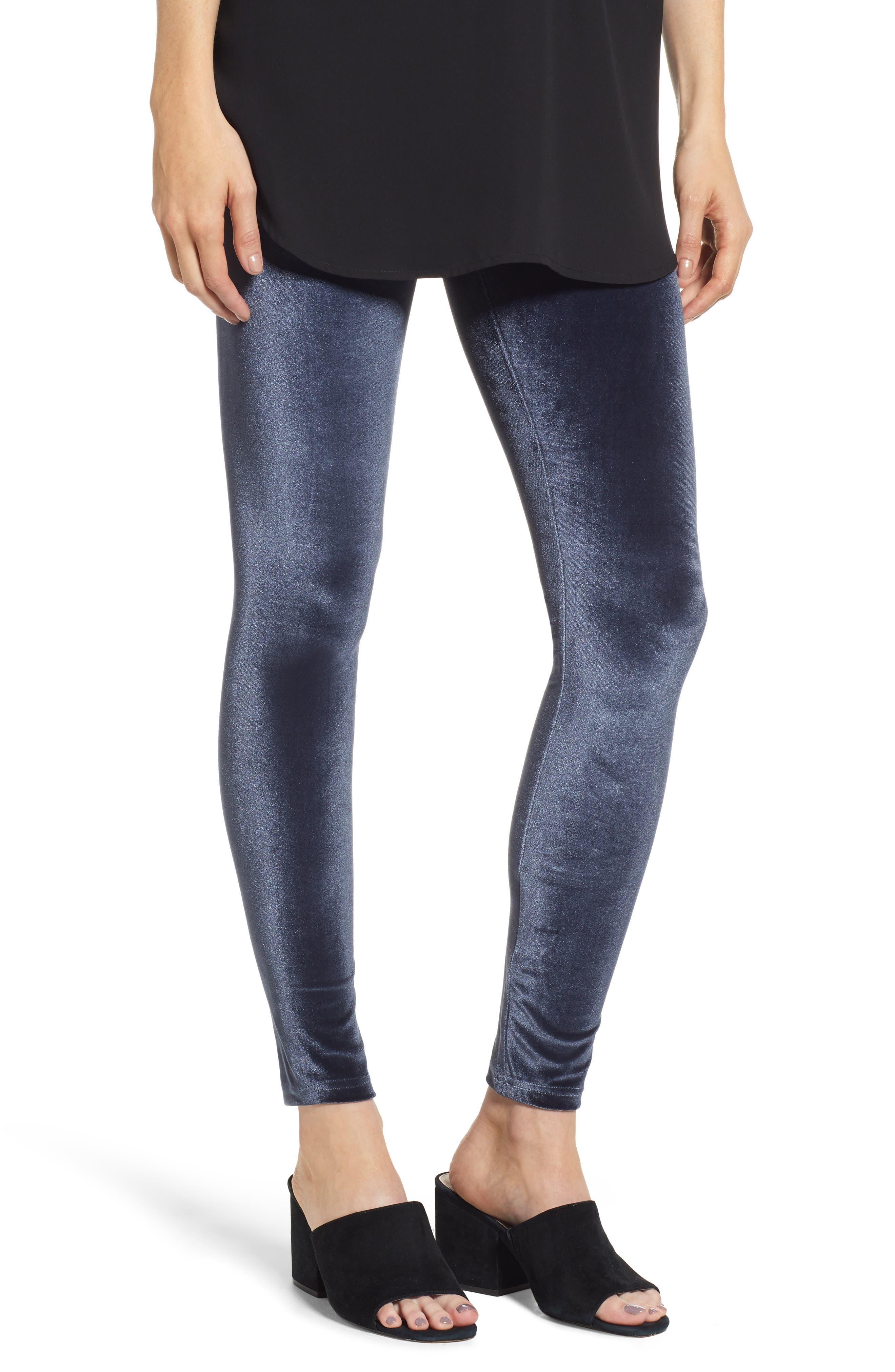 Hue Velvet Leggings, Blue