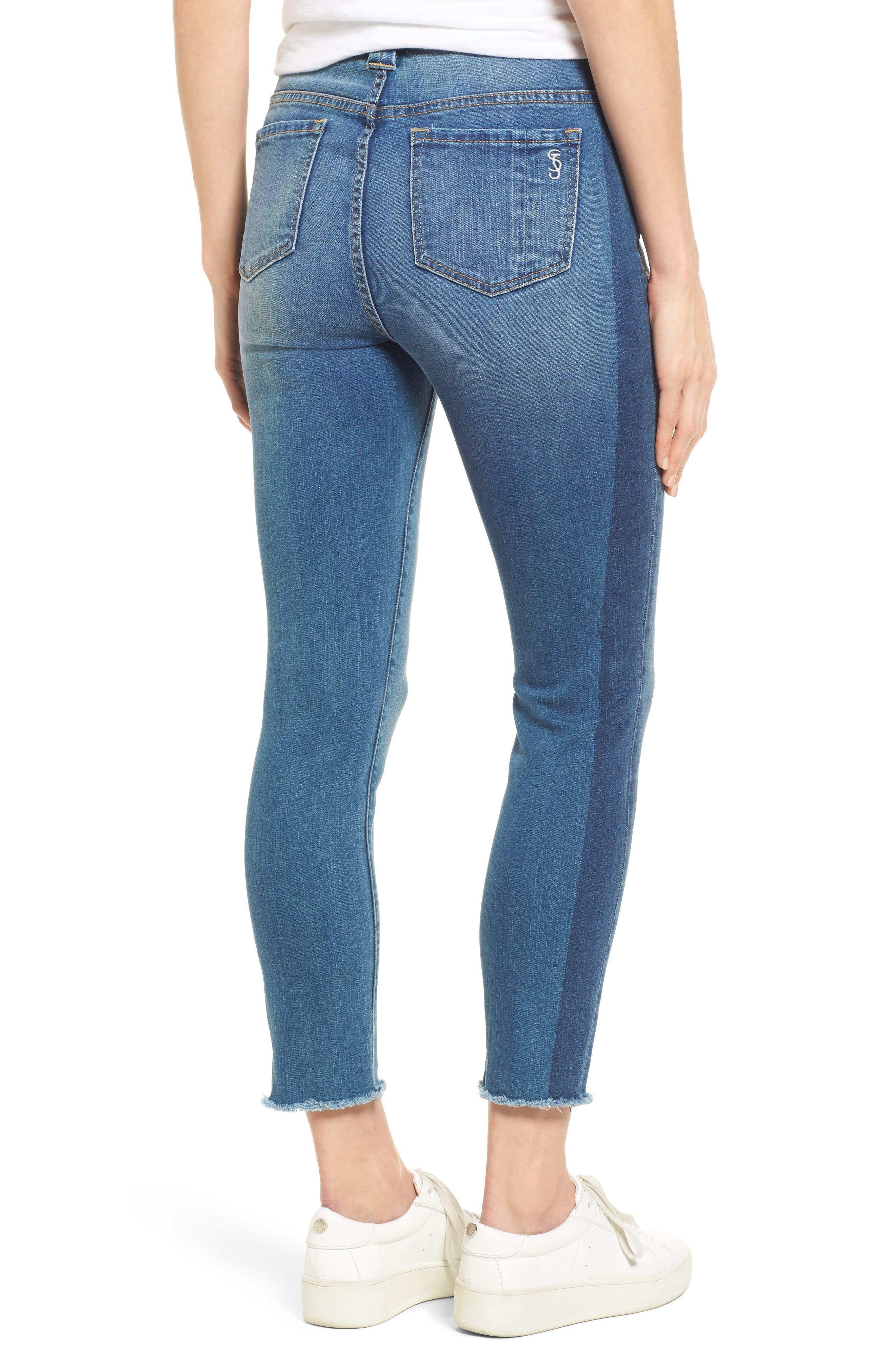 Frayed Hem Ankle Jeans,                             Alternate thumbnail 2, color,                             GWEN