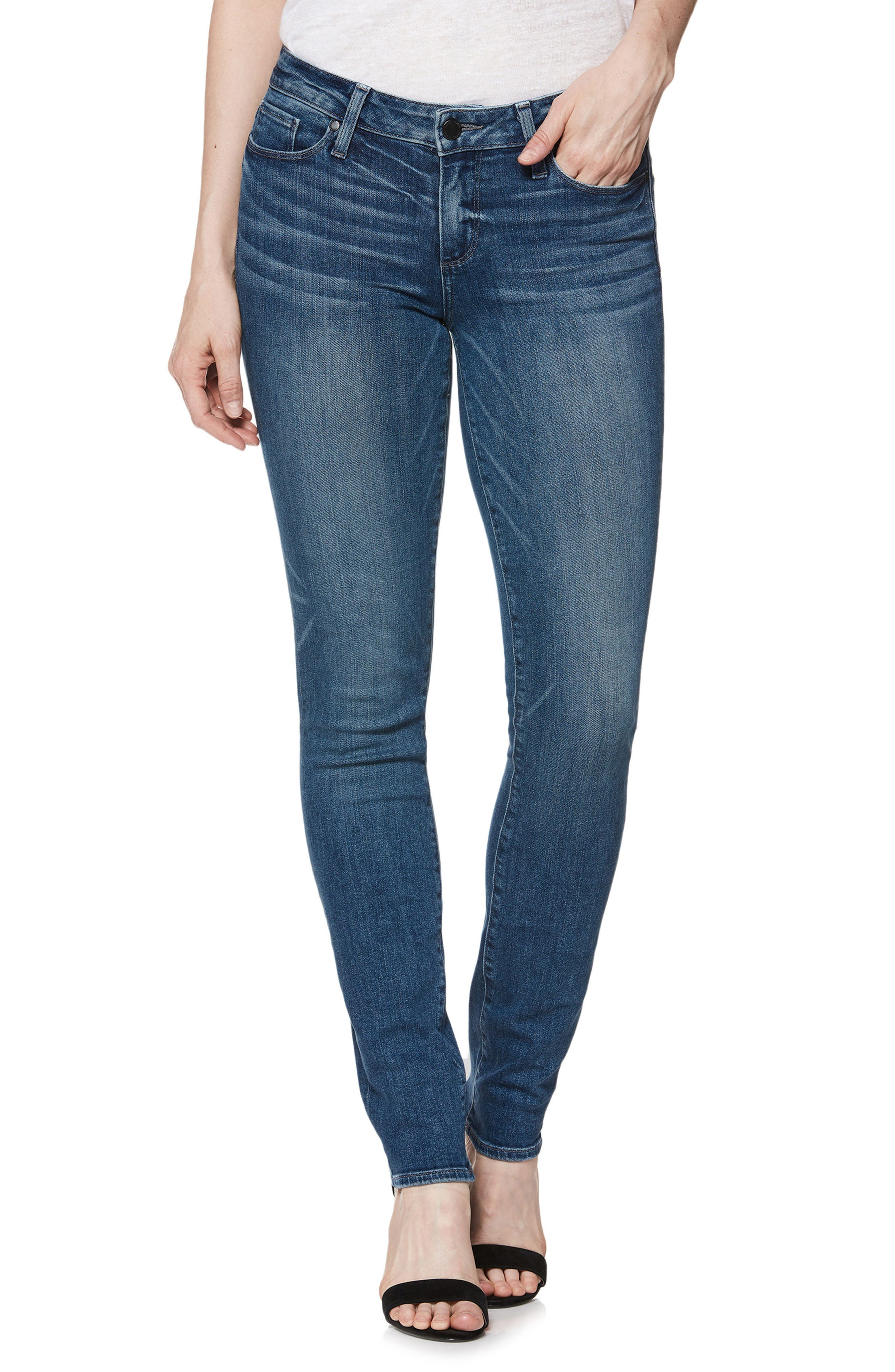 Transcend Vintage - Skyline Skinny Jeans,                             Main thumbnail 1, color,                             400