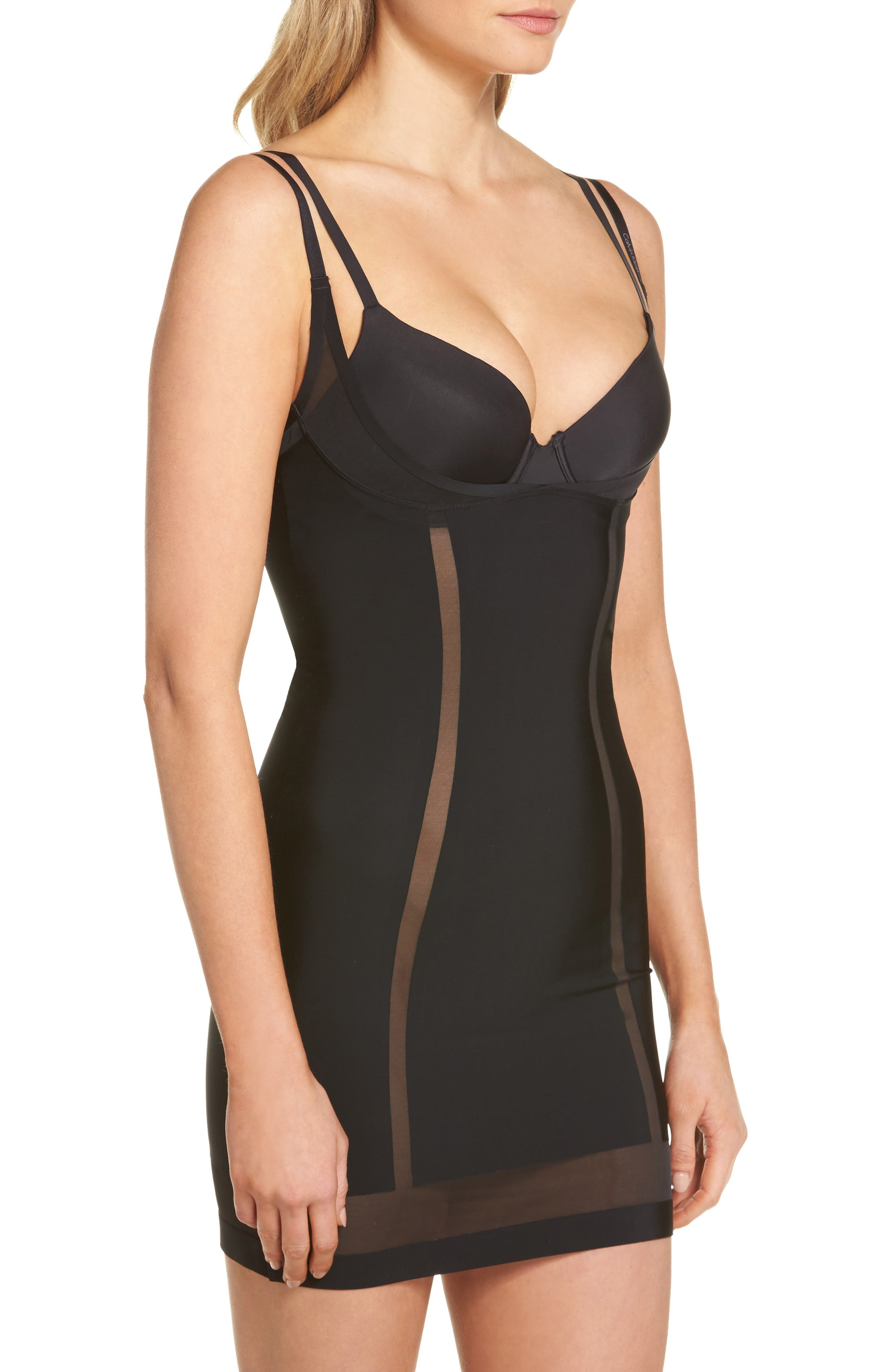 Sculpted Shapewear Slip,                             Alternate thumbnail 4, color,                             001