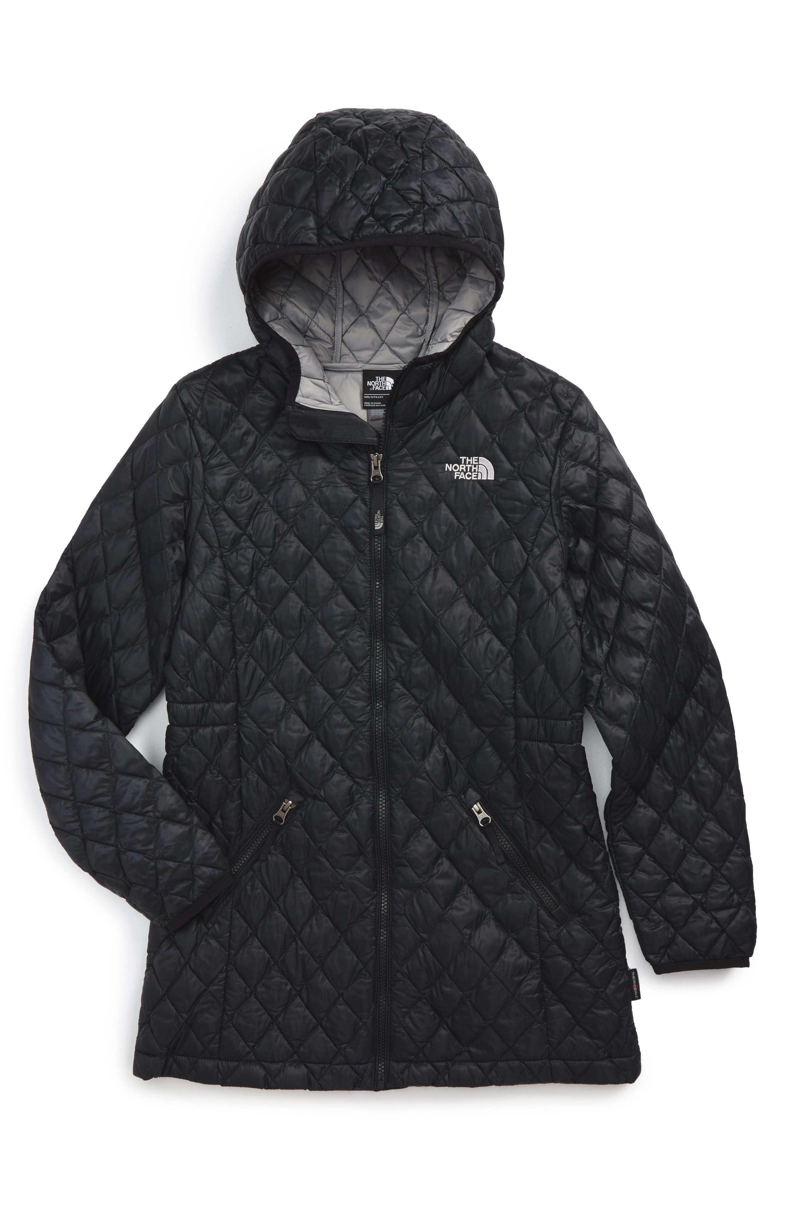 THE NORTH FACE 'ThermoBall<sup>™</sup>' PrimaLoft<sup>®</sup> Quilted Parka, Main, color, 001
