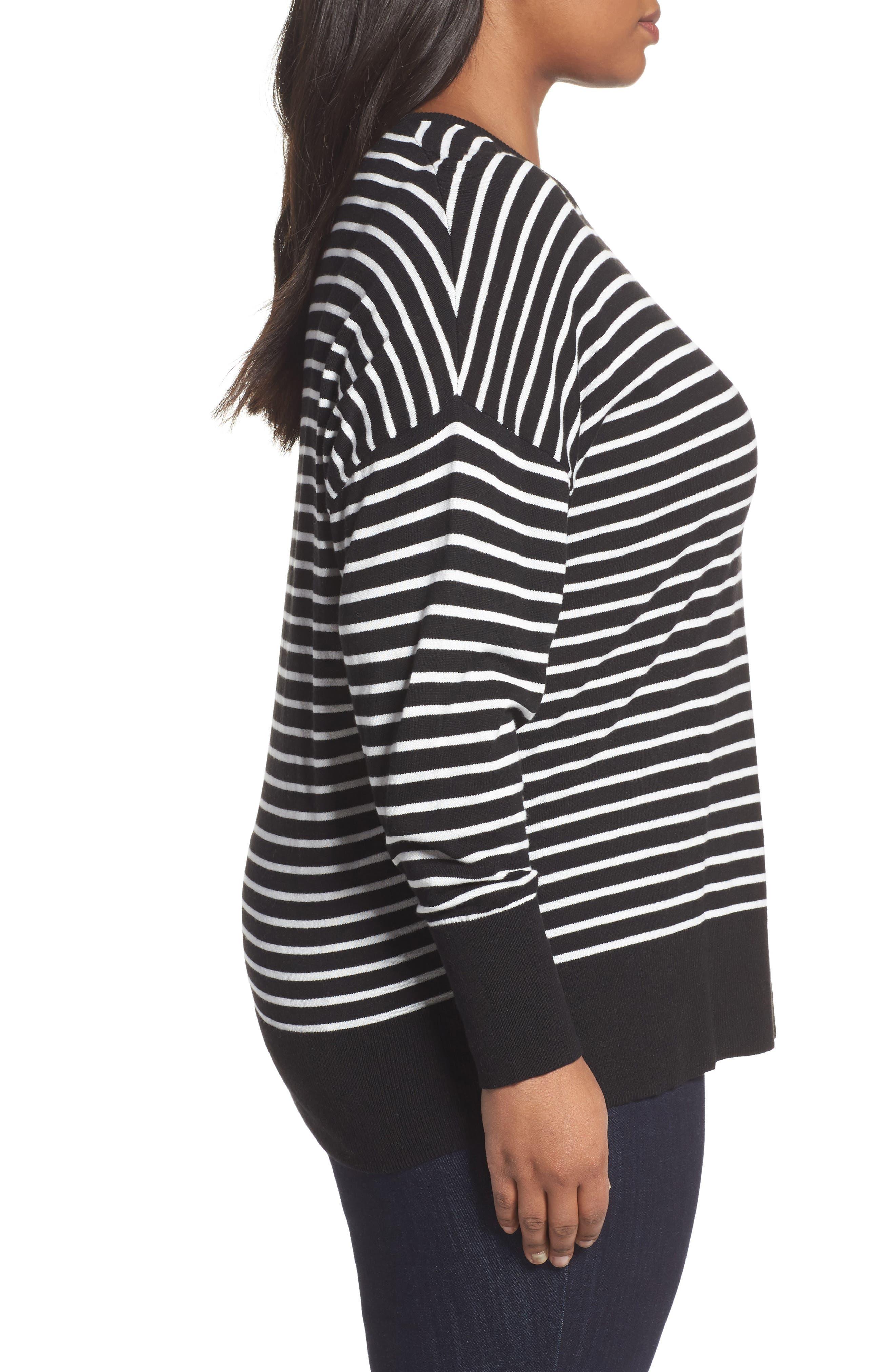 Dolman Sleeve Crewneck Sweater,                             Alternate thumbnail 3, color,                             002