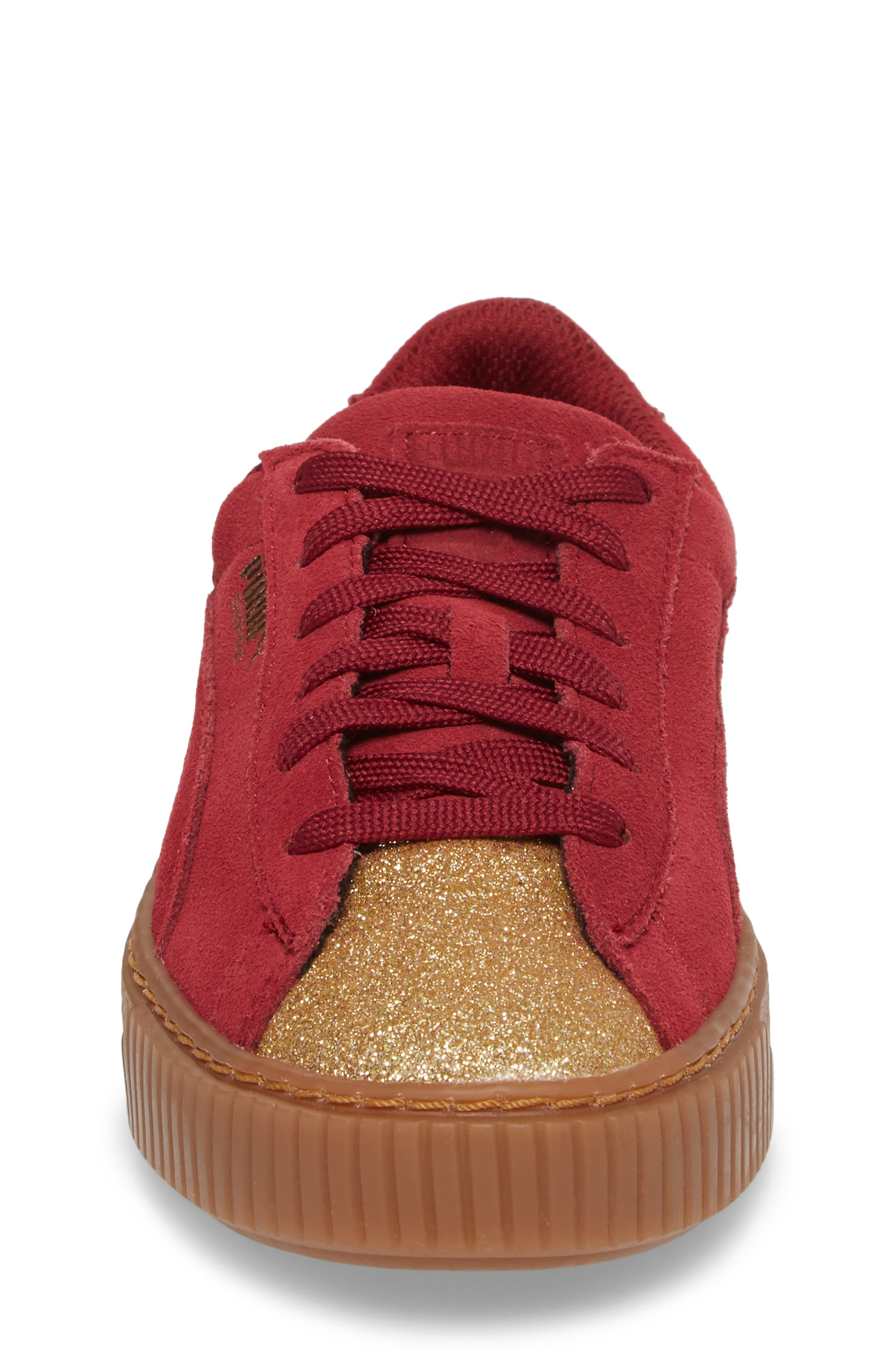 Suede Platform Glam PS Sneaker,                             Alternate thumbnail 20, color,