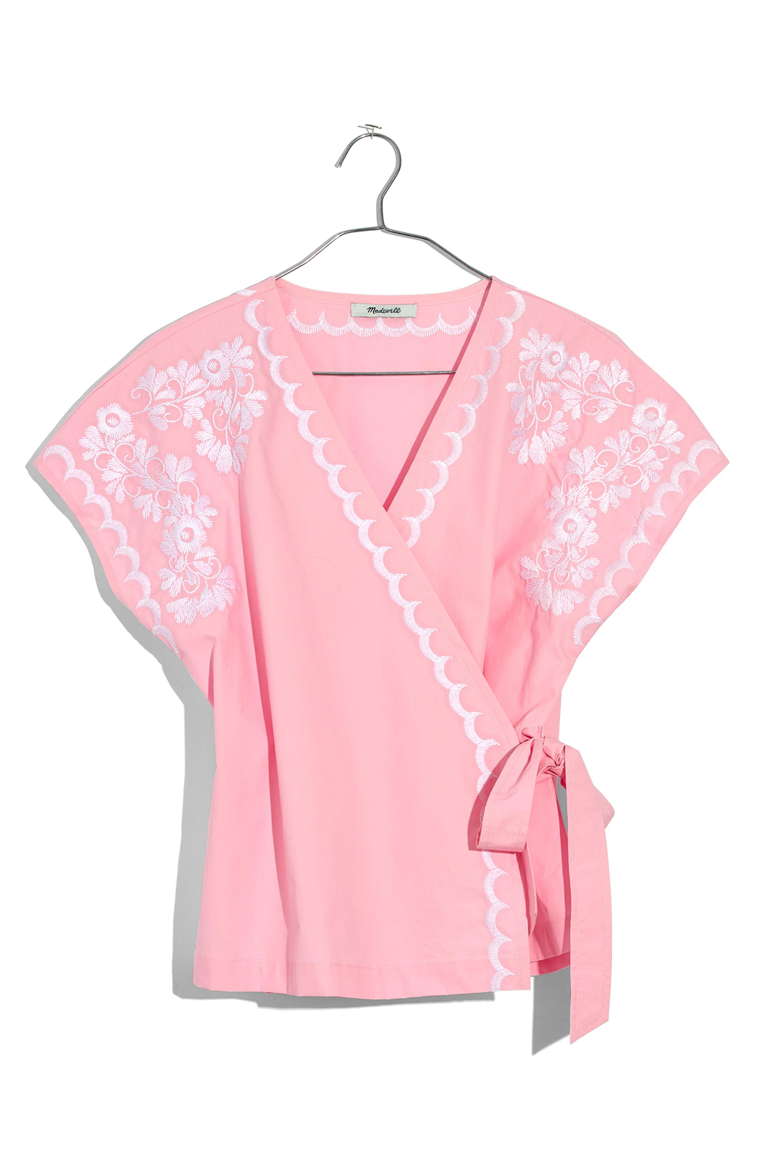 Embroidered Kimono Wrap Top,                             Alternate thumbnail 2, color,                             650