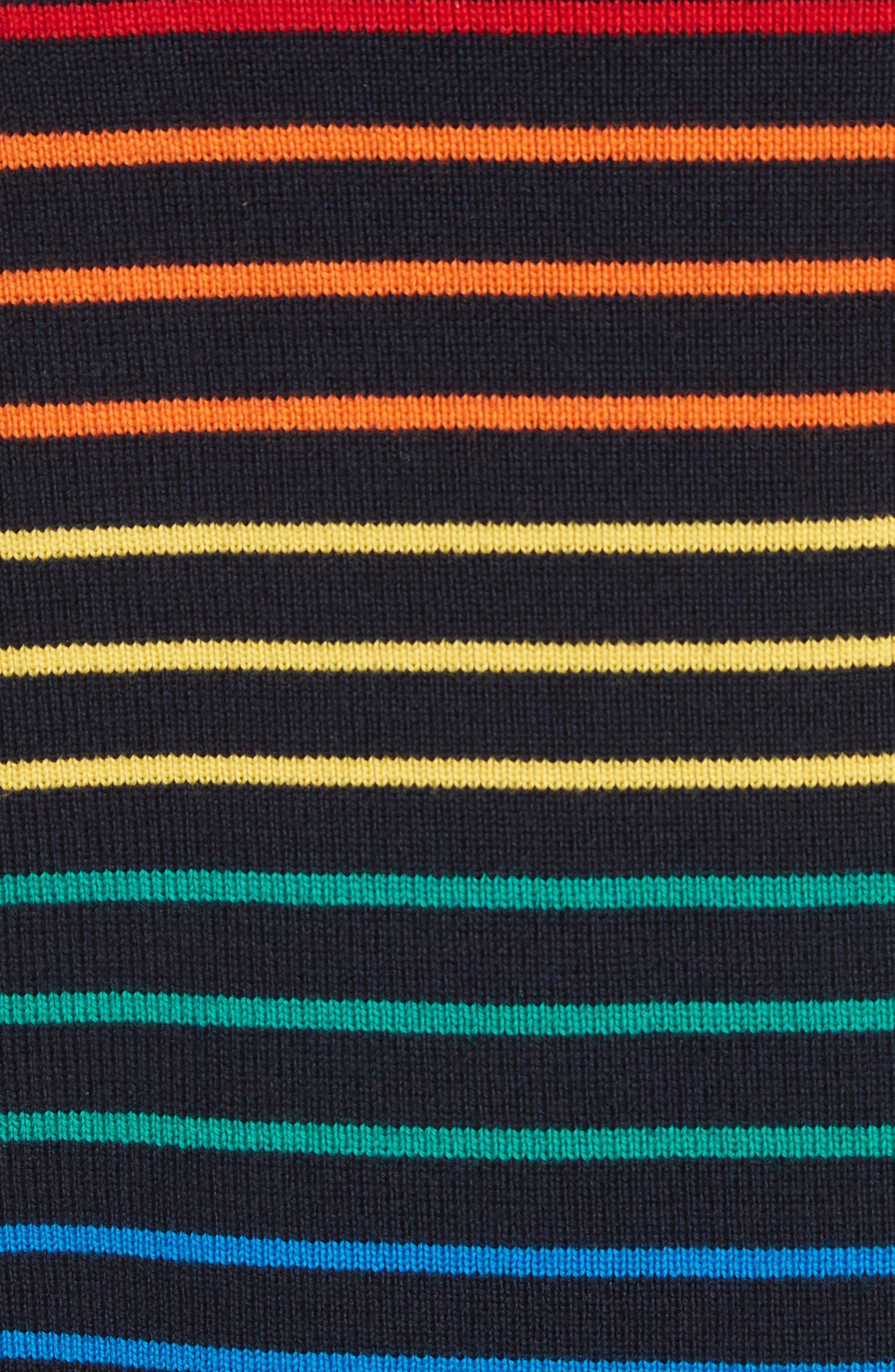 Marinière Stripe Wool Sweater,                             Alternate thumbnail 5, color,                             400