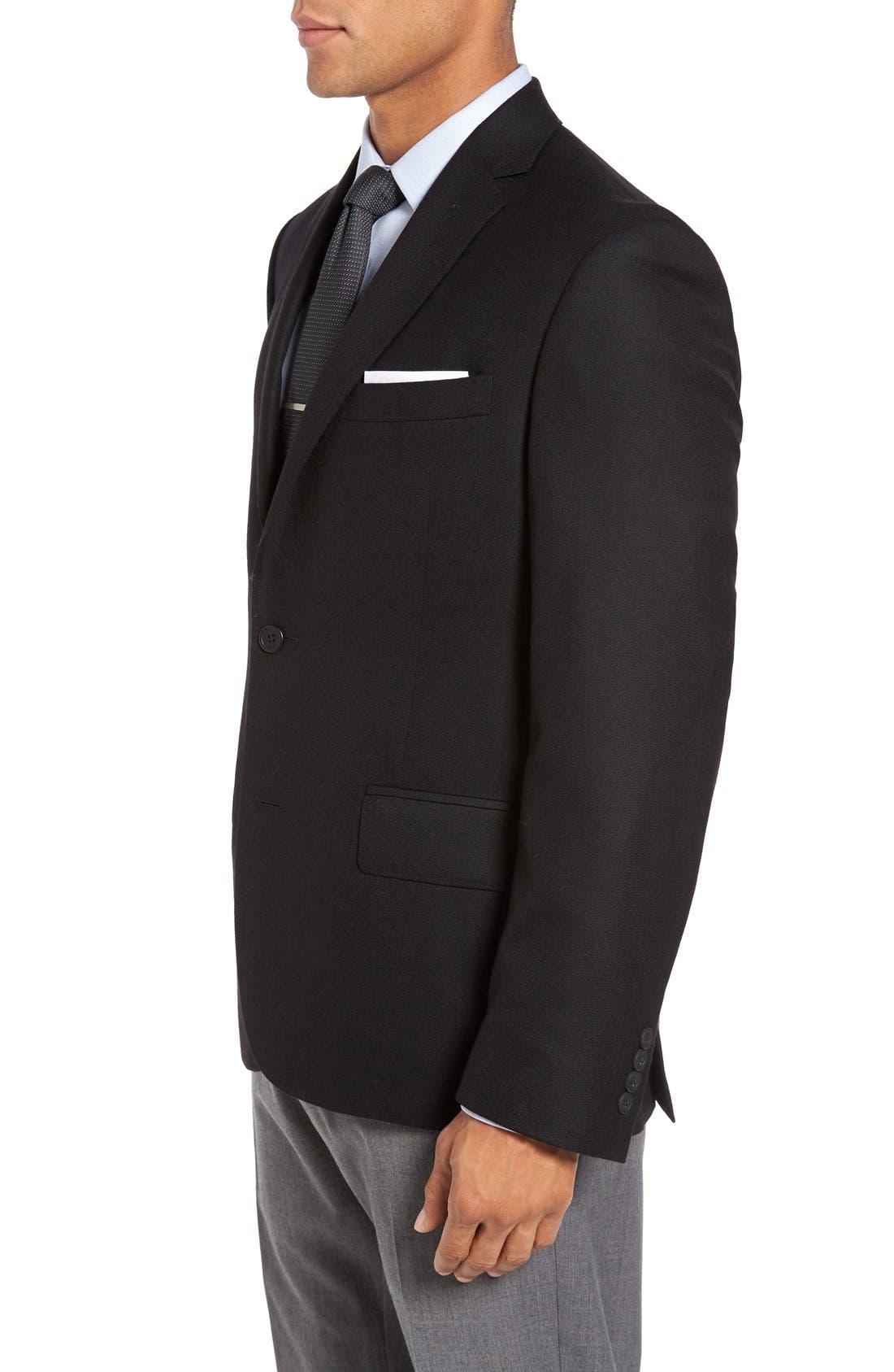 Classic Fit Wool & Cashmere Blazer,                             Alternate thumbnail 3, color,                             001