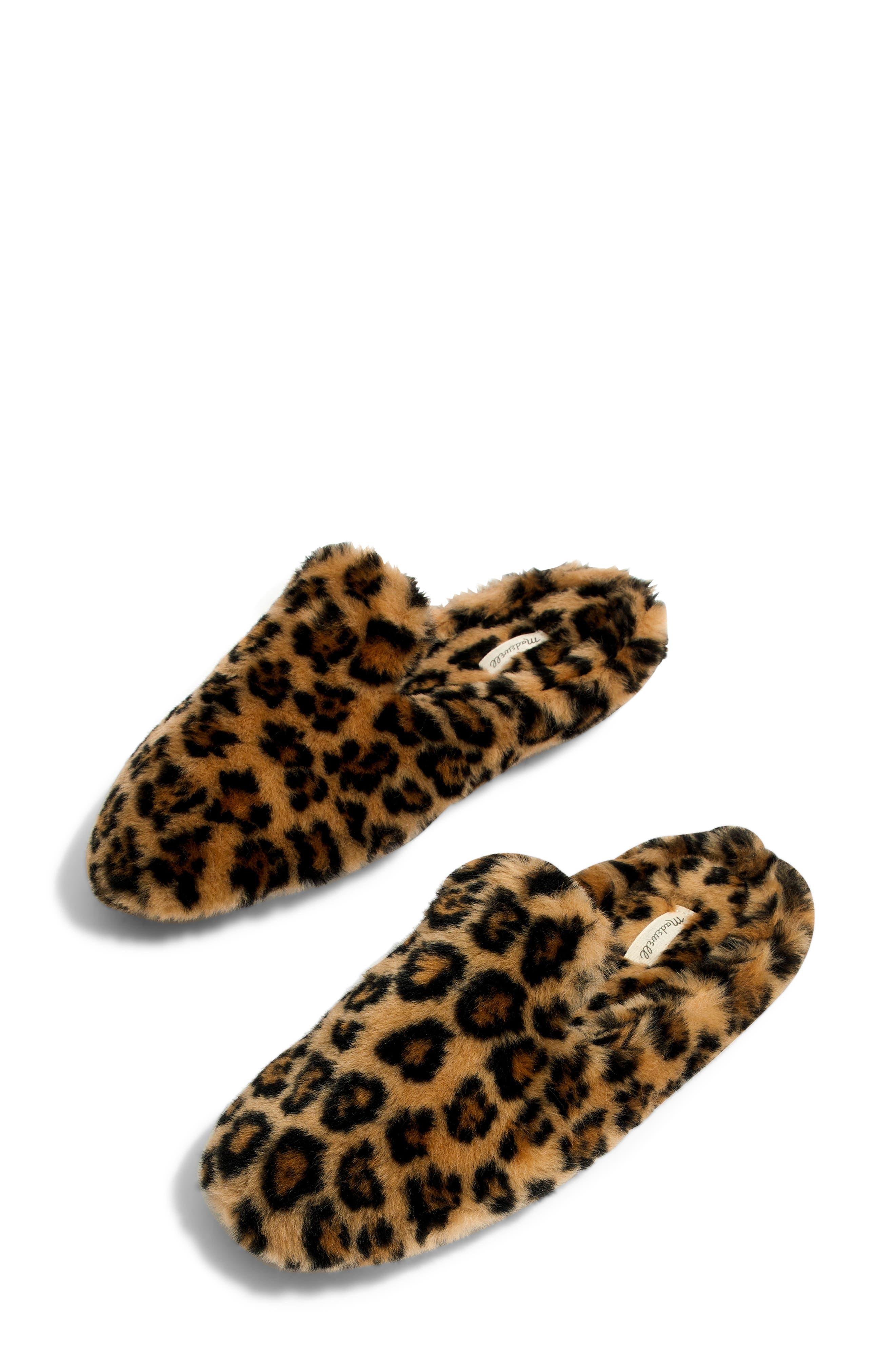 Loafer Scuff Slipper,                         Main,                         color, LEOPARD