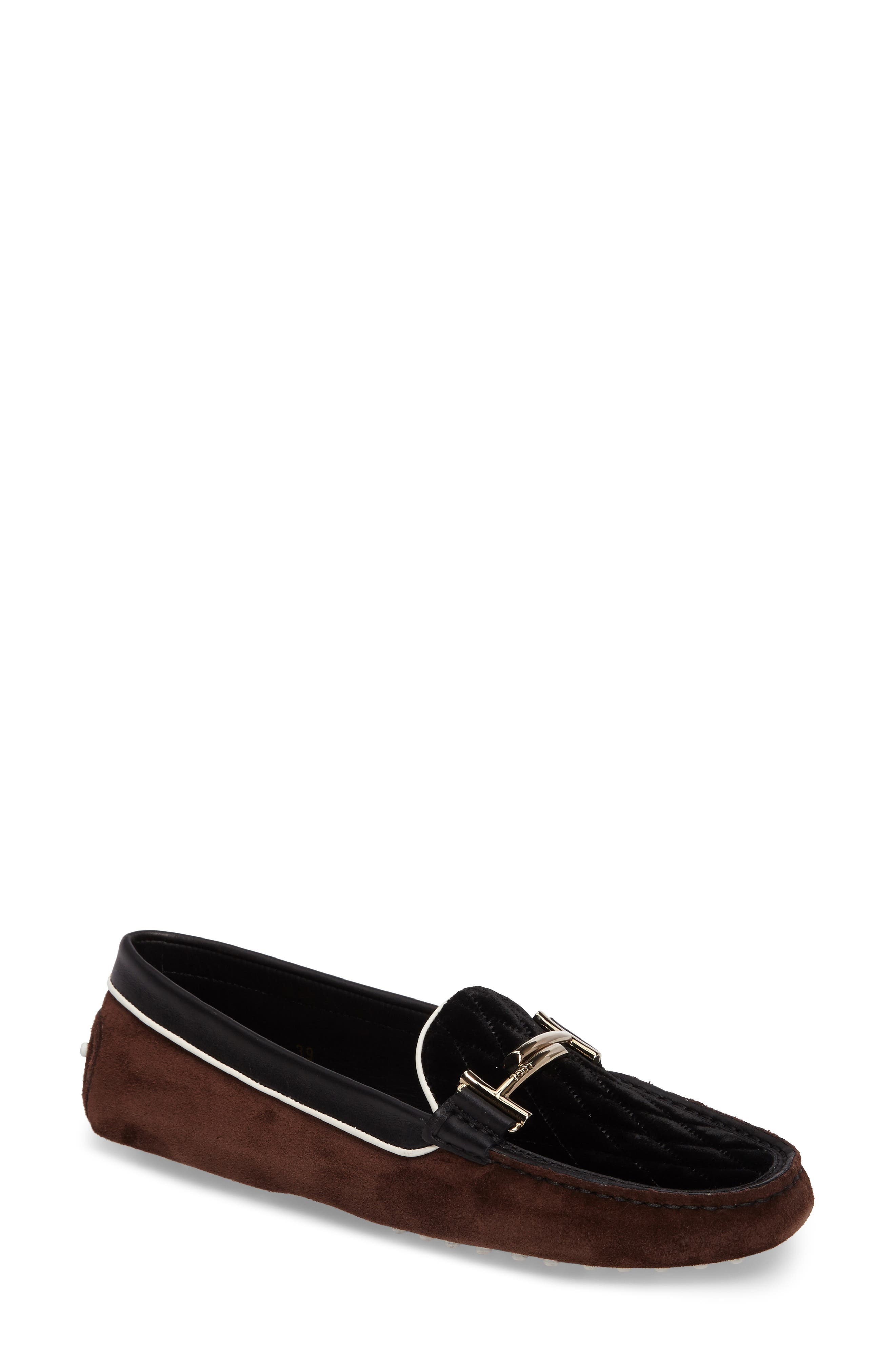 Double T Quilted Gommino Loafer,                         Main,                         color, 200