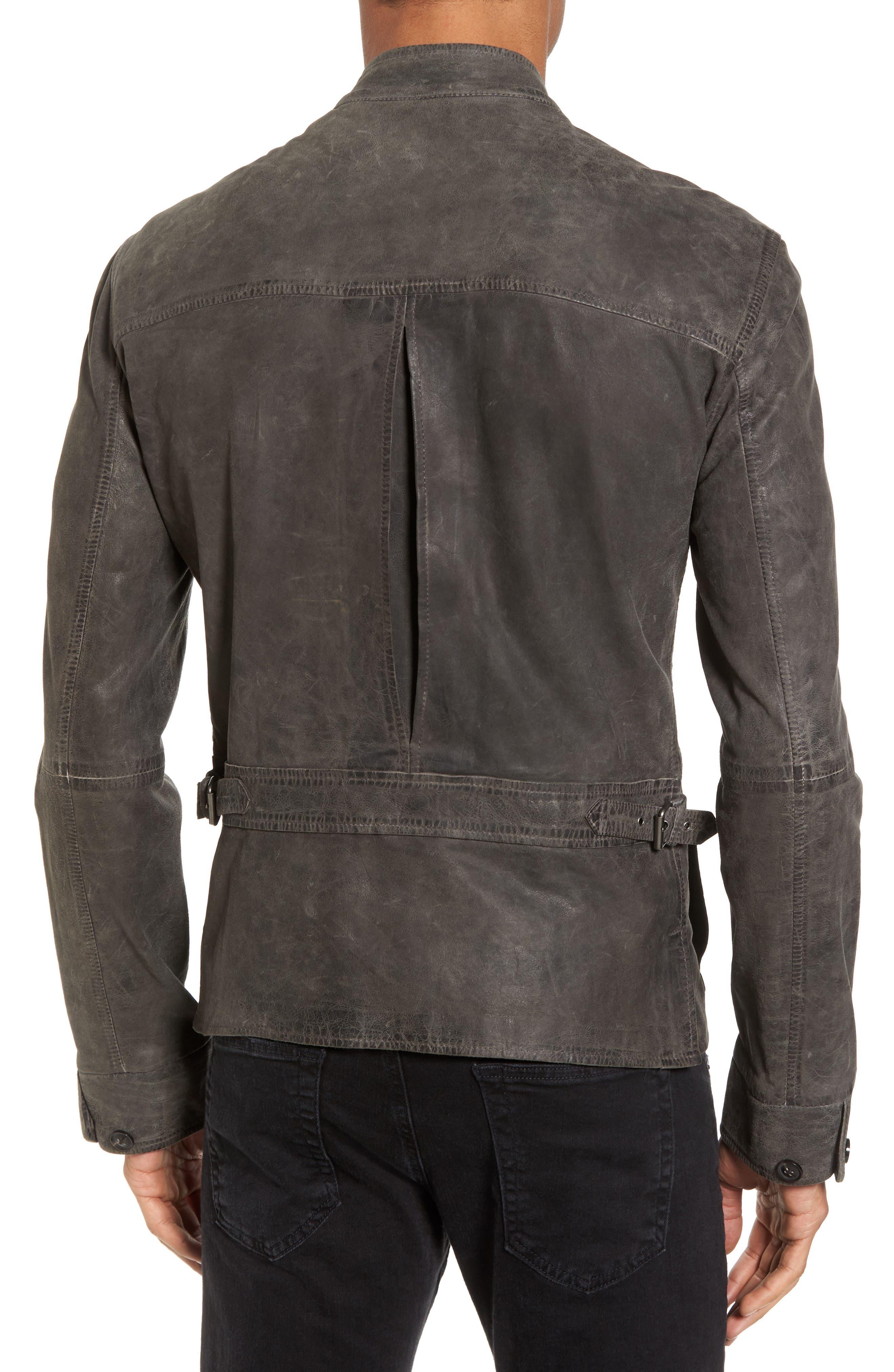 Leather Racer Jacket,                             Alternate thumbnail 2, color,                             036