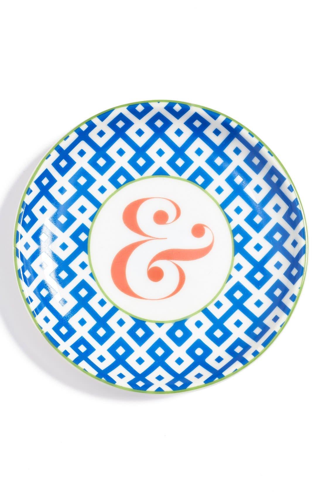 'L'Alphabet' Porcelain Tray,                             Main thumbnail 2, color,