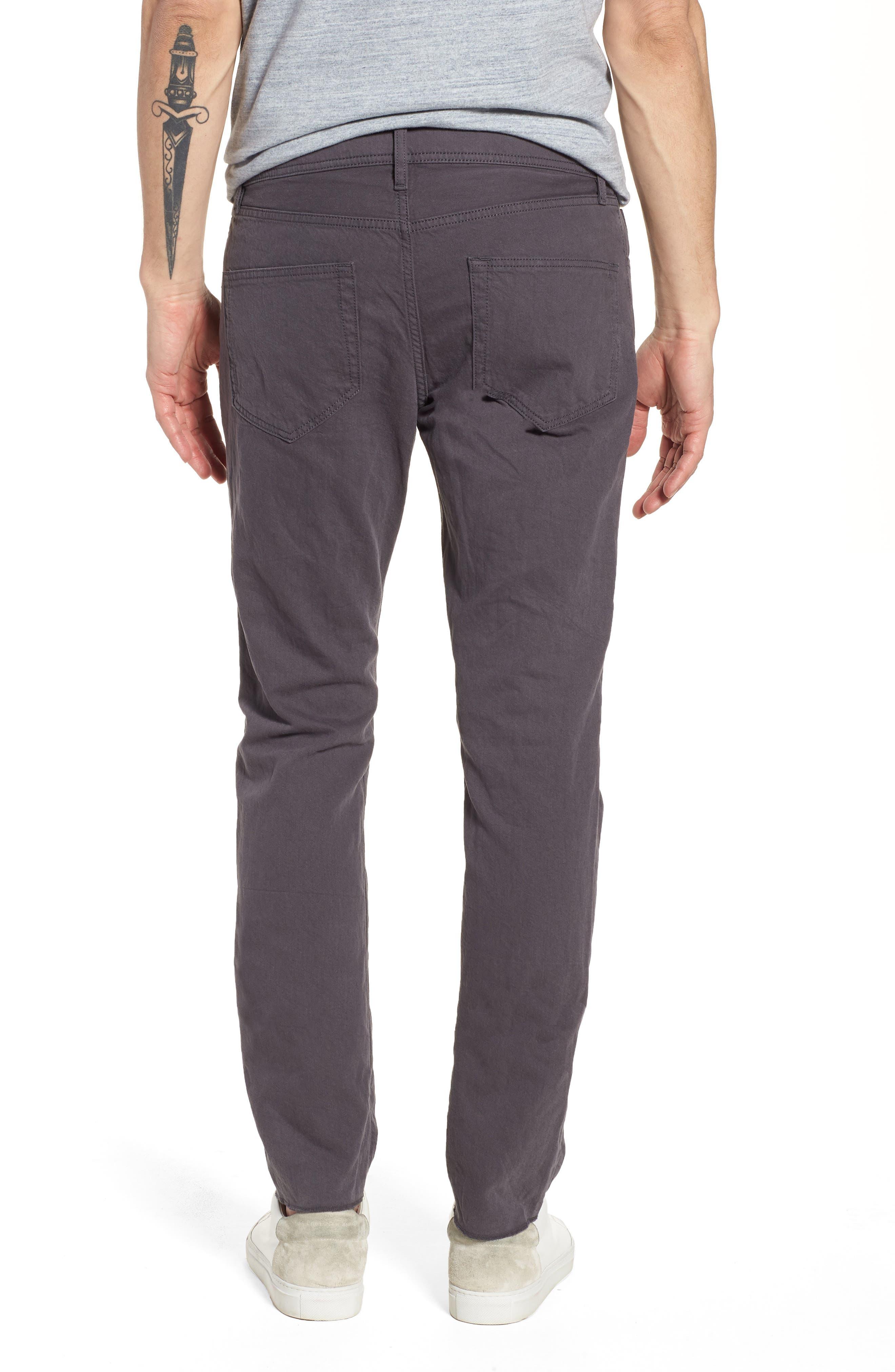 Slim Fit Twill Pants,                             Alternate thumbnail 2, color,                             037