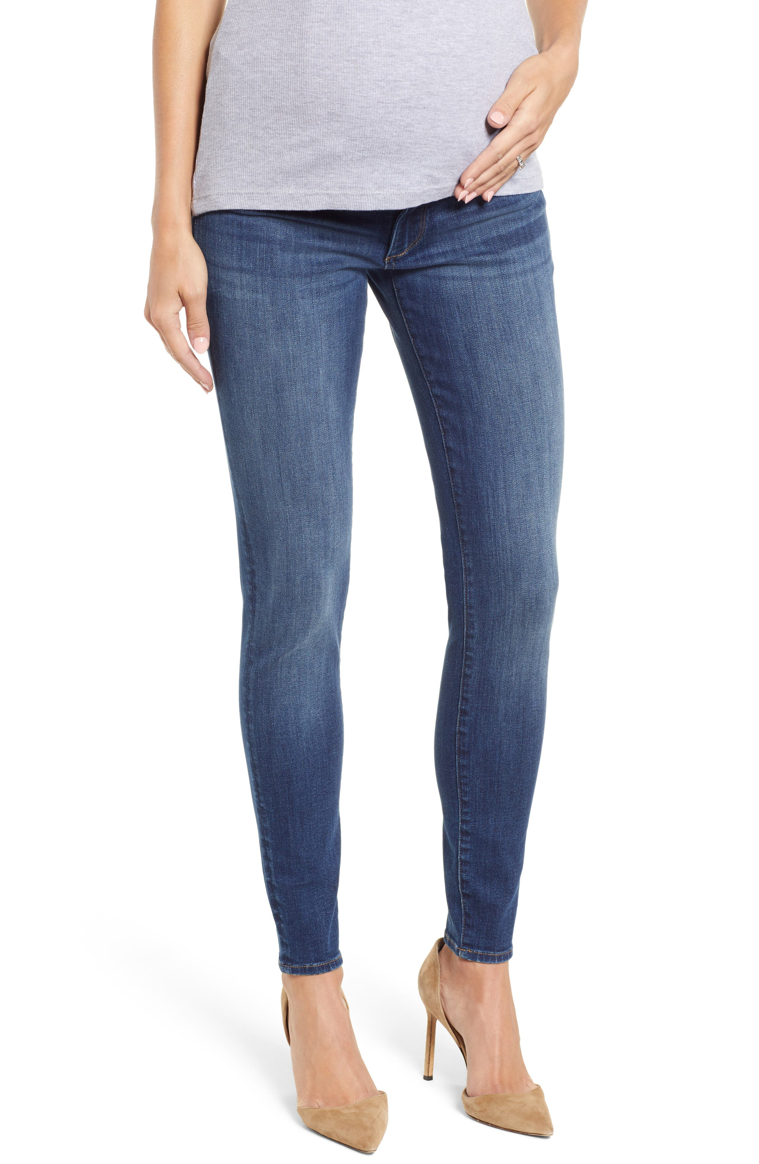 Florence Maternity Skinny Jeans,                             Main thumbnail 1, color,                             001