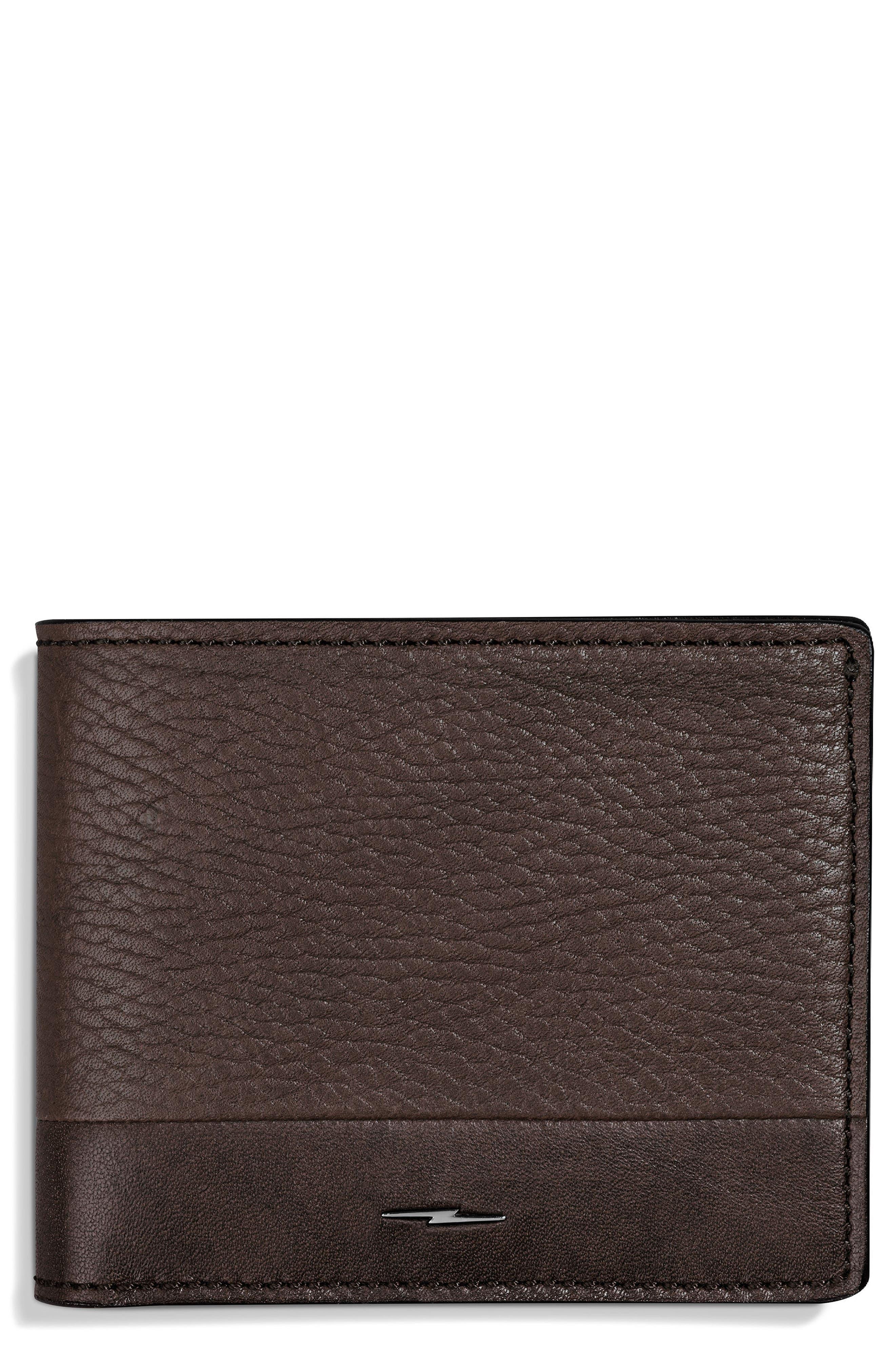 Bolt Leather Wallet,                             Main thumbnail 1, color,                             240