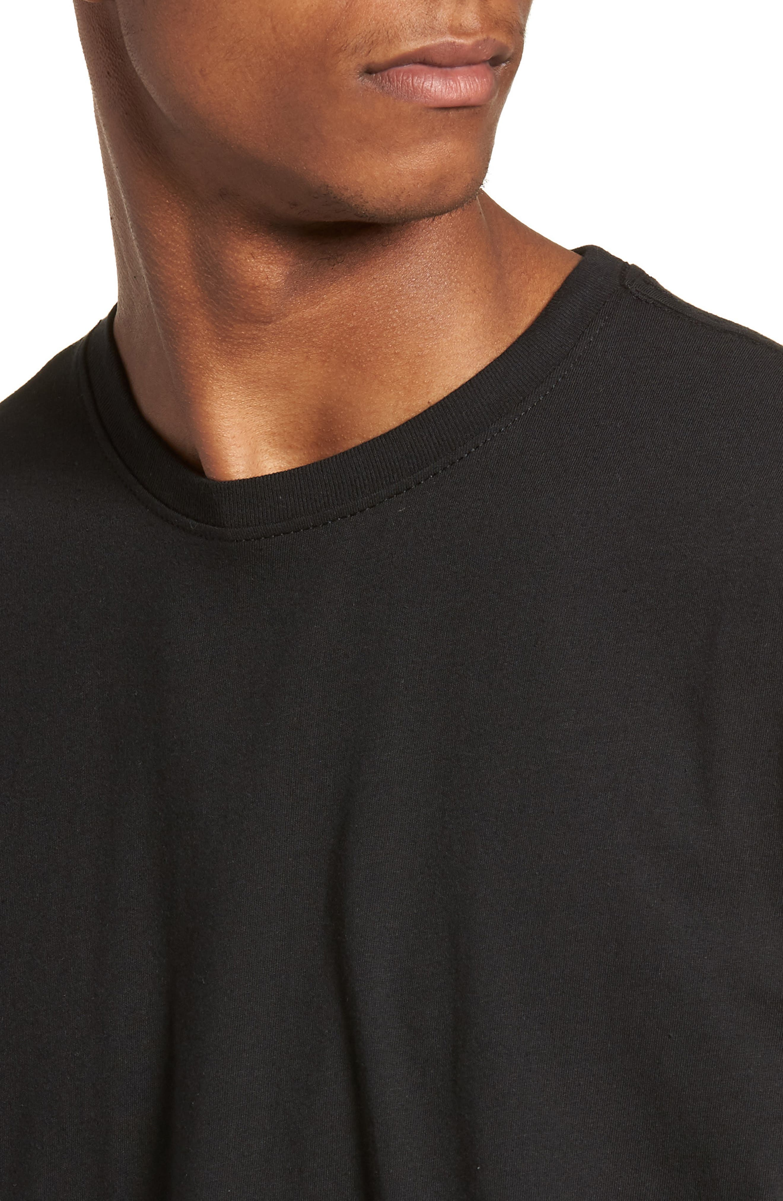 Essential Magnified Logo T-Shirt,                             Alternate thumbnail 4, color,                             001