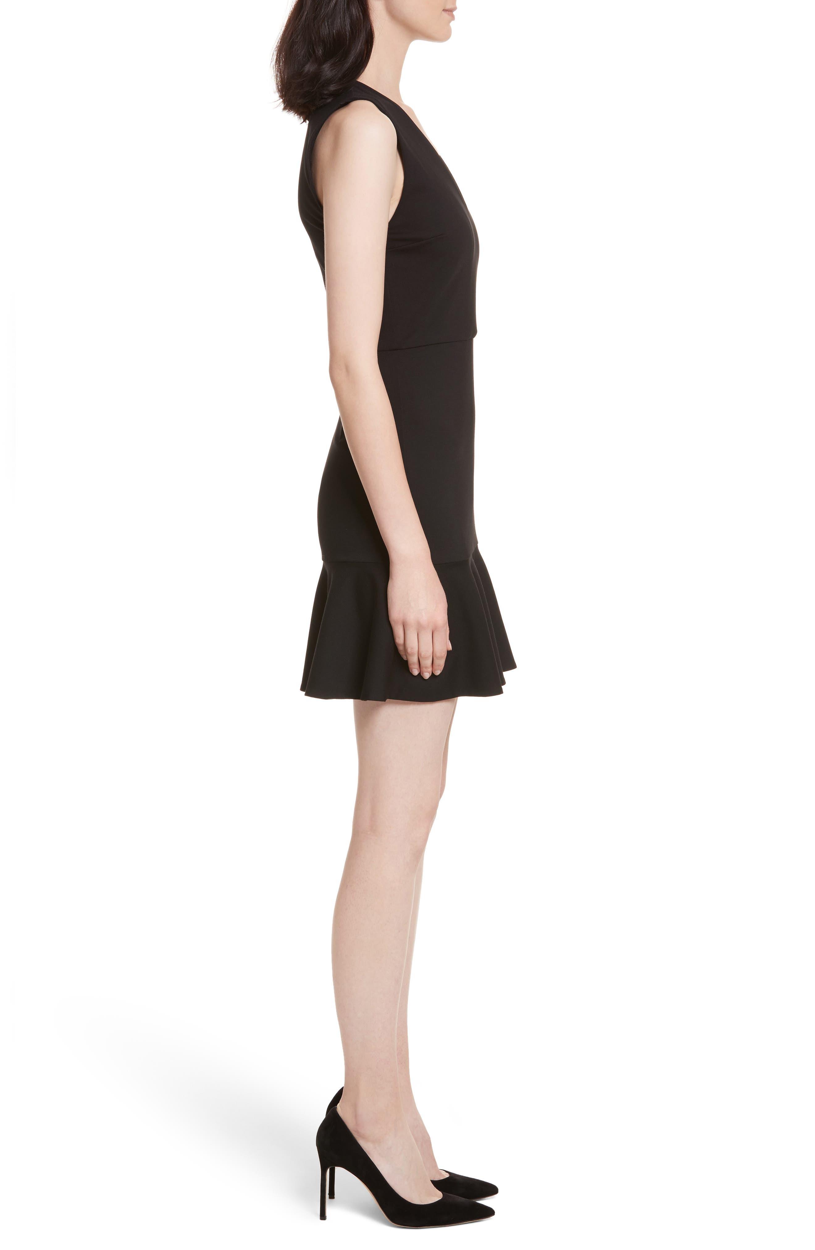 Onella V-Neck Dress,                             Alternate thumbnail 3, color,                             001