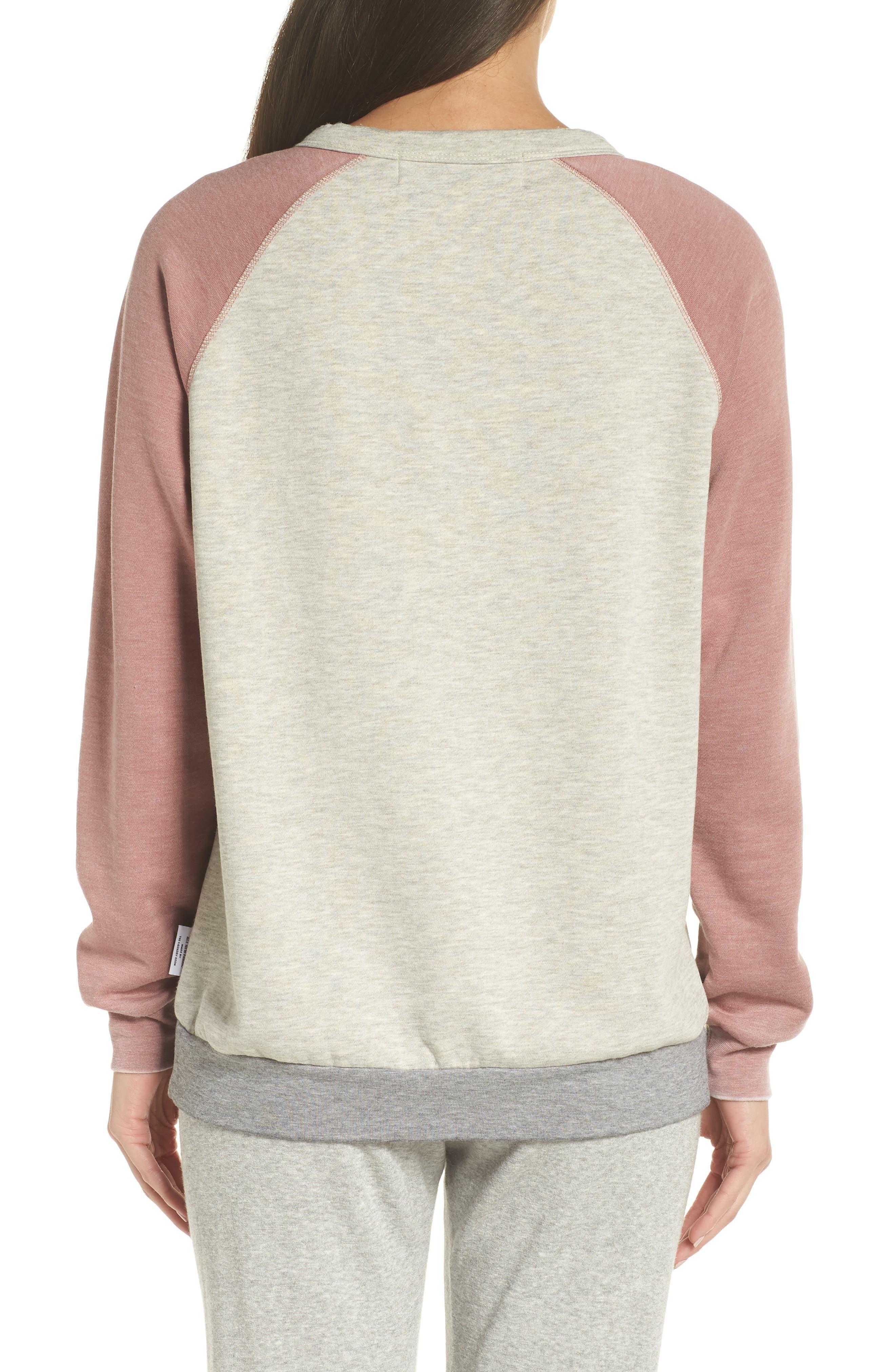 Sweatshirt,                             Alternate thumbnail 2, color,                             PEBBLE HEATHER / MAUVE