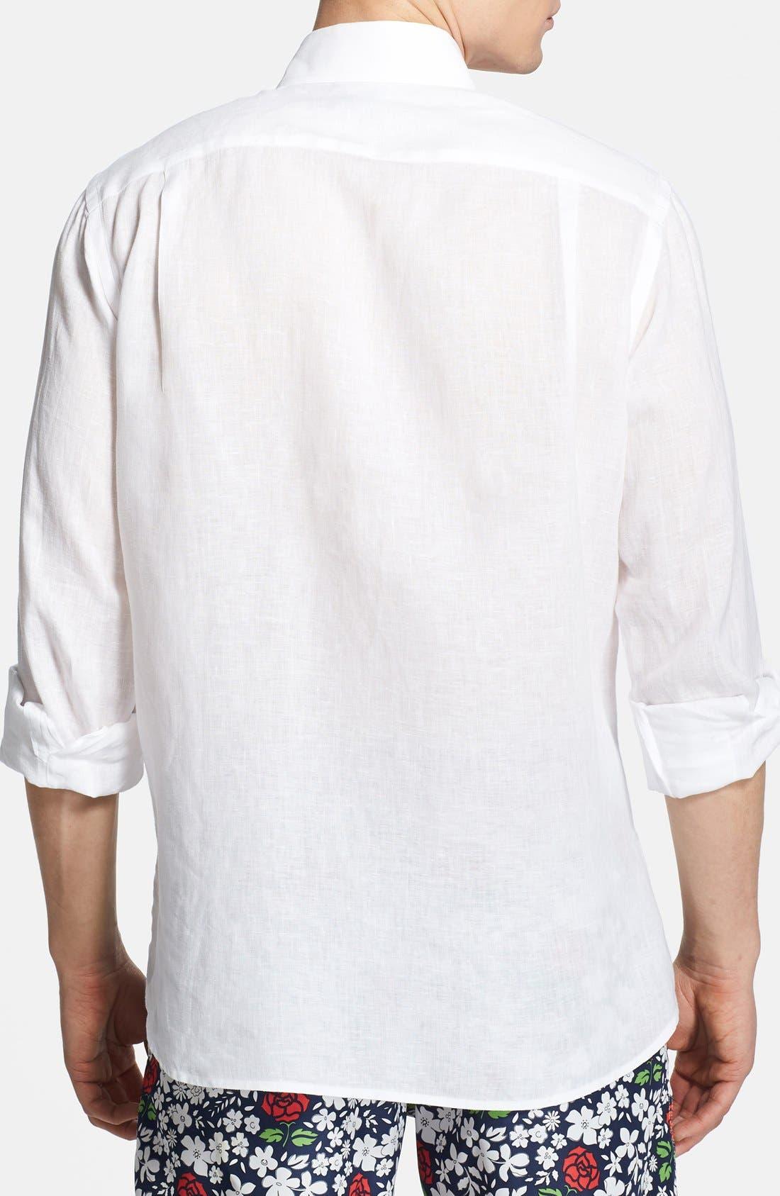 'Caroubier' Linen Shirt,                             Alternate thumbnail 49, color,