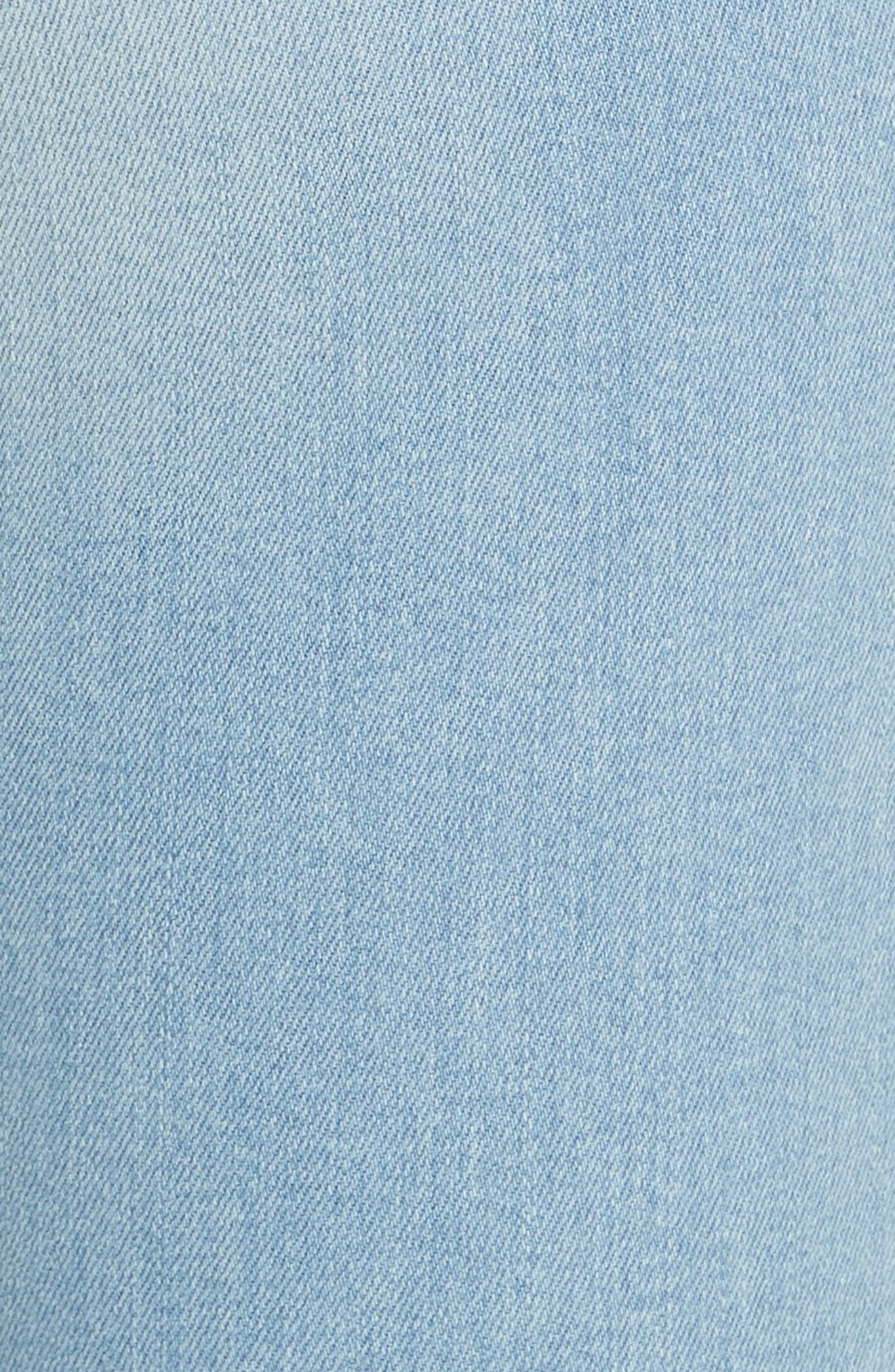 Le Skinny de Jeanne Raw Hem Crop Skinny Jeans,                             Alternate thumbnail 6, color,                             JEROME