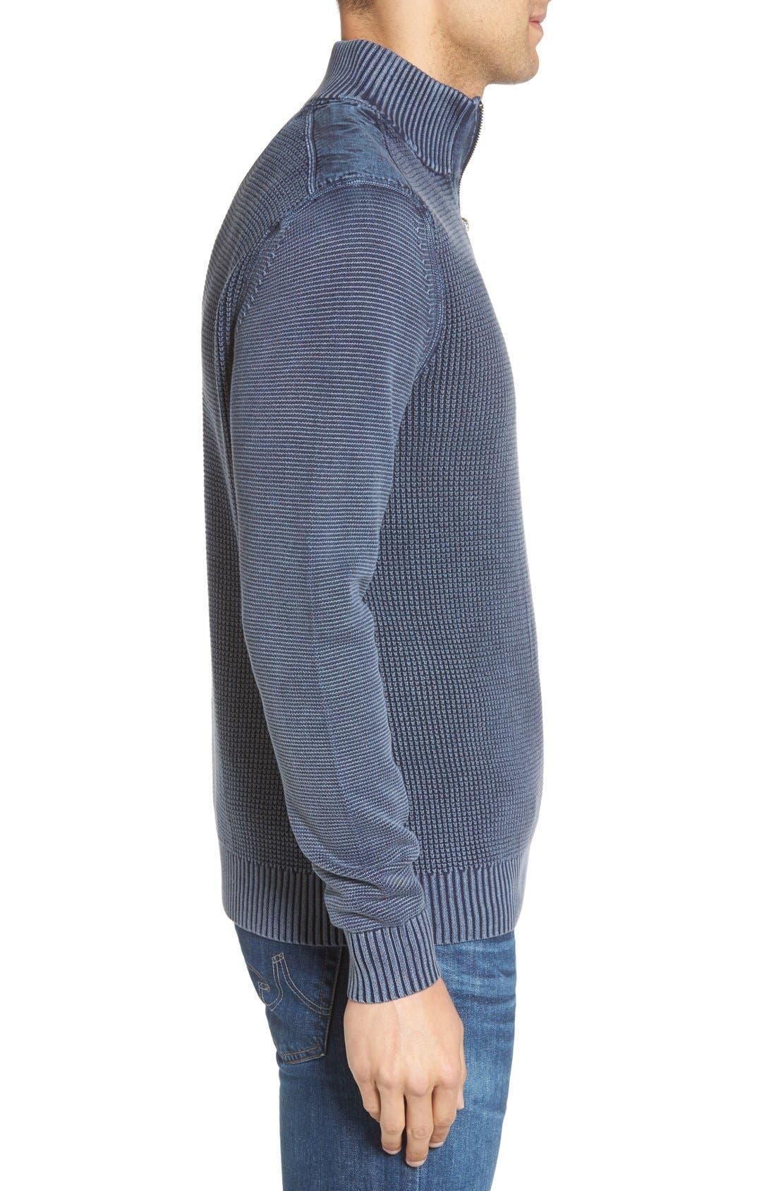 'Coastal Shores' Quarter Zip Sweater,                             Alternate thumbnail 26, color,