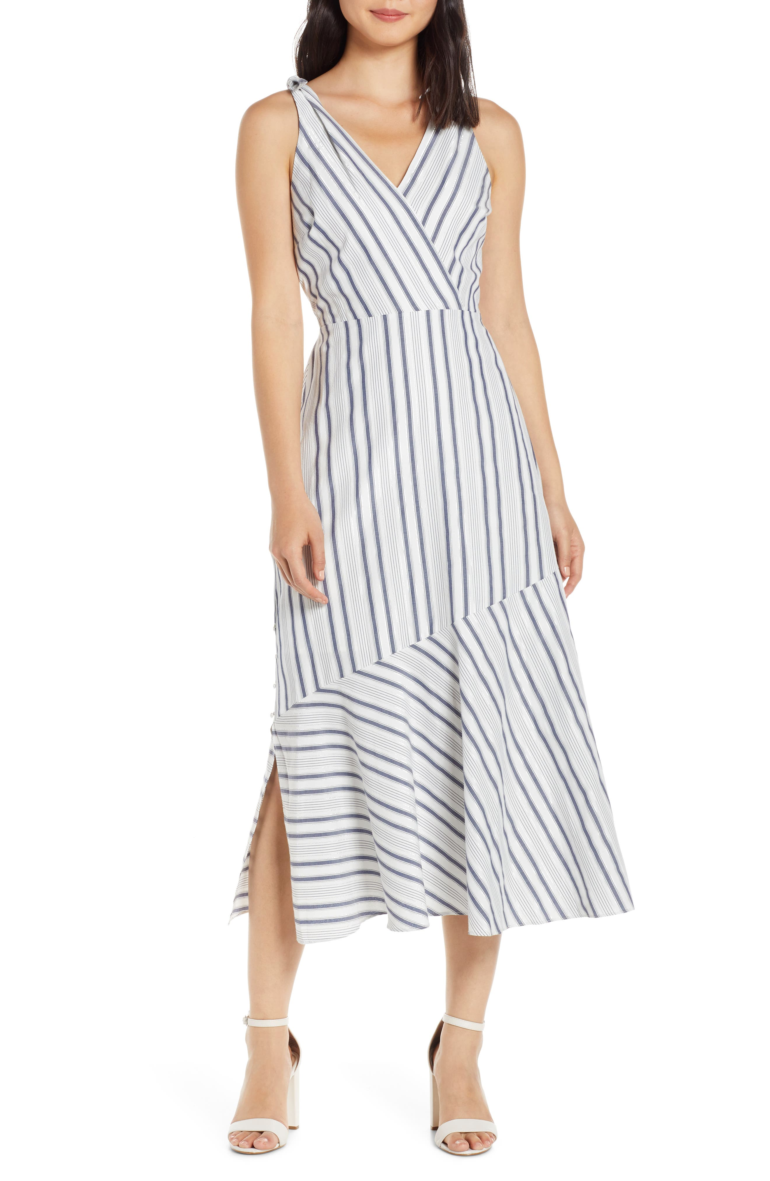 Sam Edelman Stripe Sundress, White