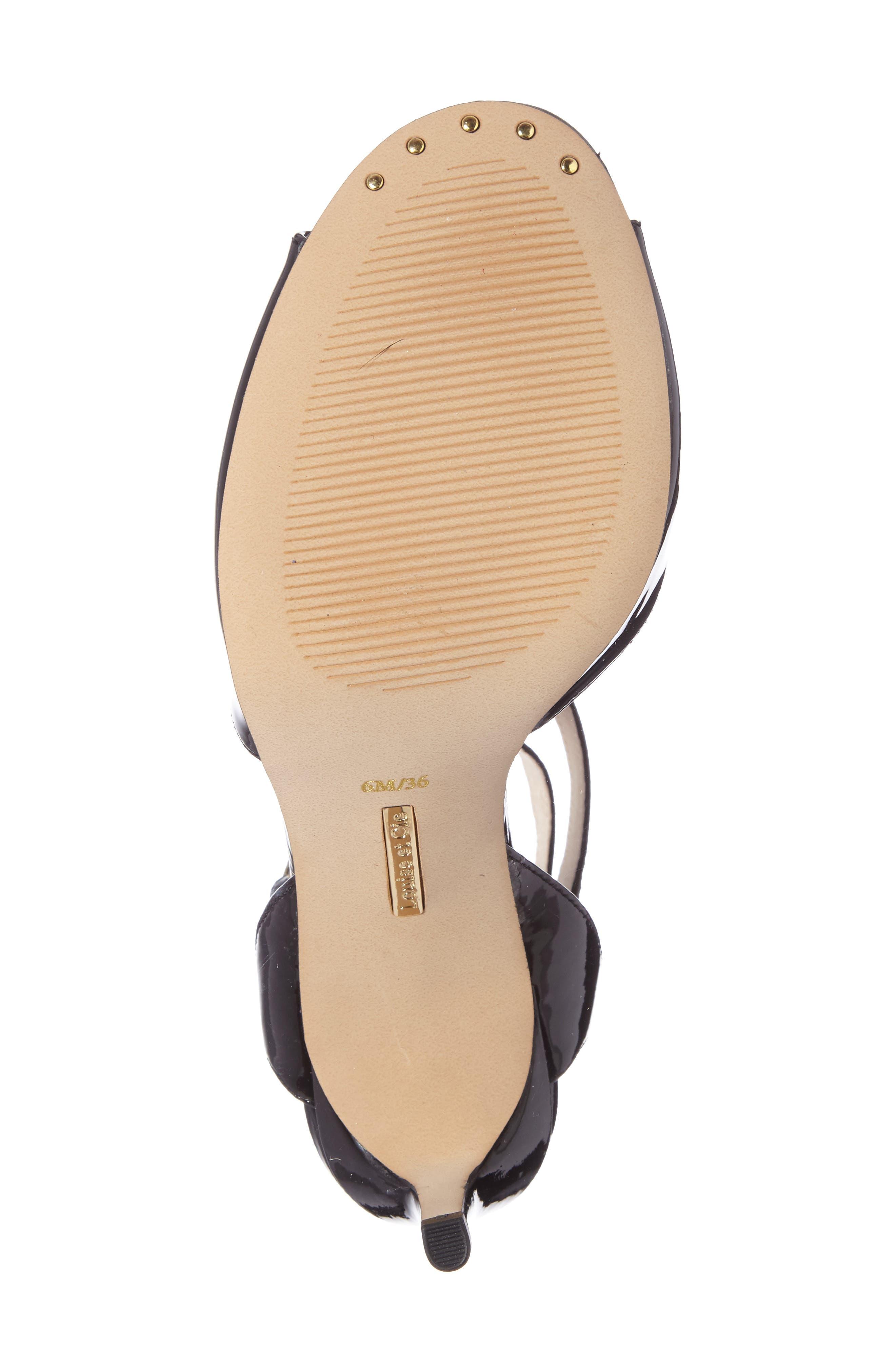 Kealy Asymmetrical Strappy Sandal,                             Alternate thumbnail 4, color,                             003