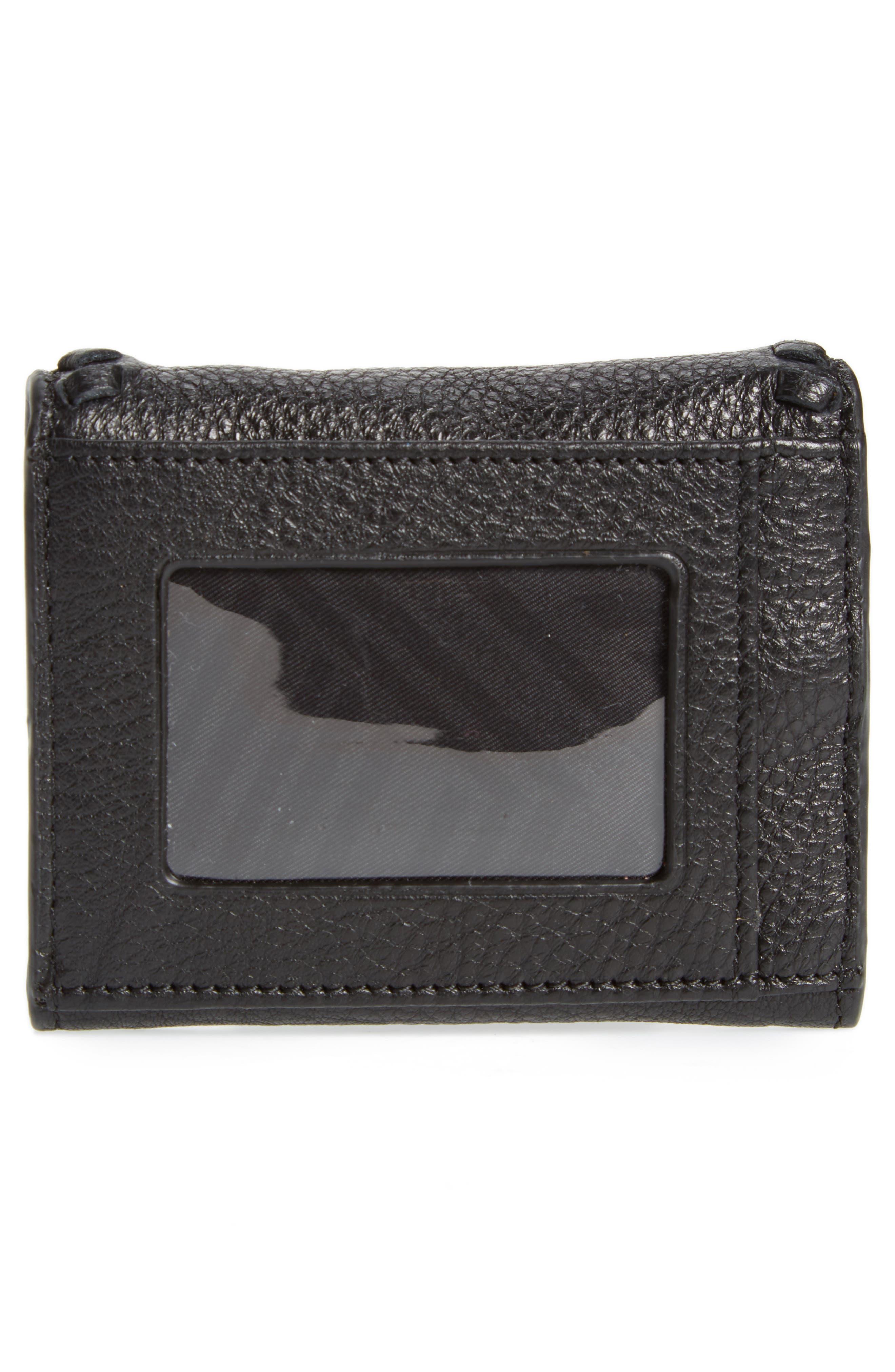 Mini Vanity Leather Wallet,                             Alternate thumbnail 4, color,                             001
