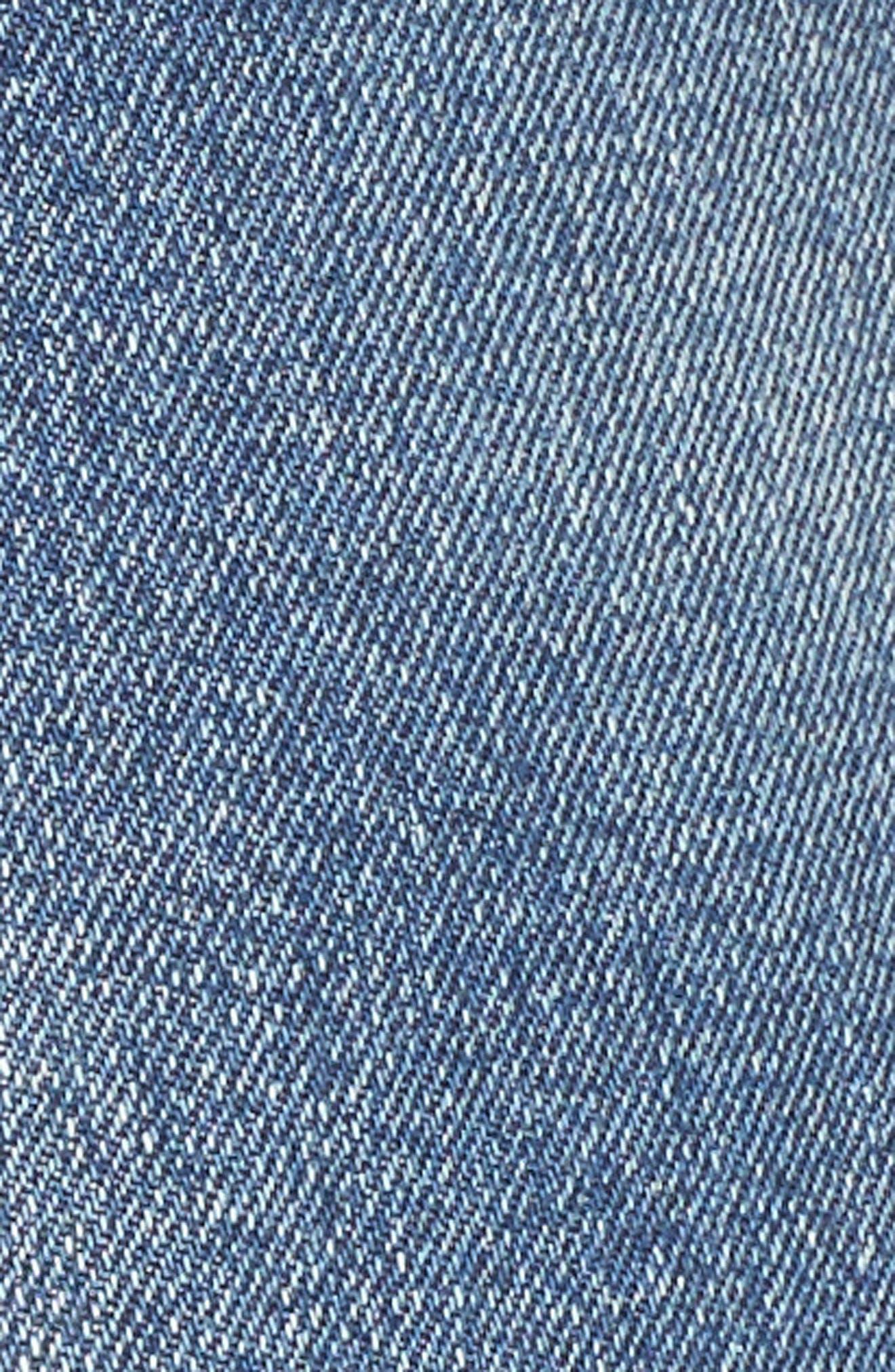 Pin-Up Distressed Denim Shorts,                             Alternate thumbnail 5, color,                             400
