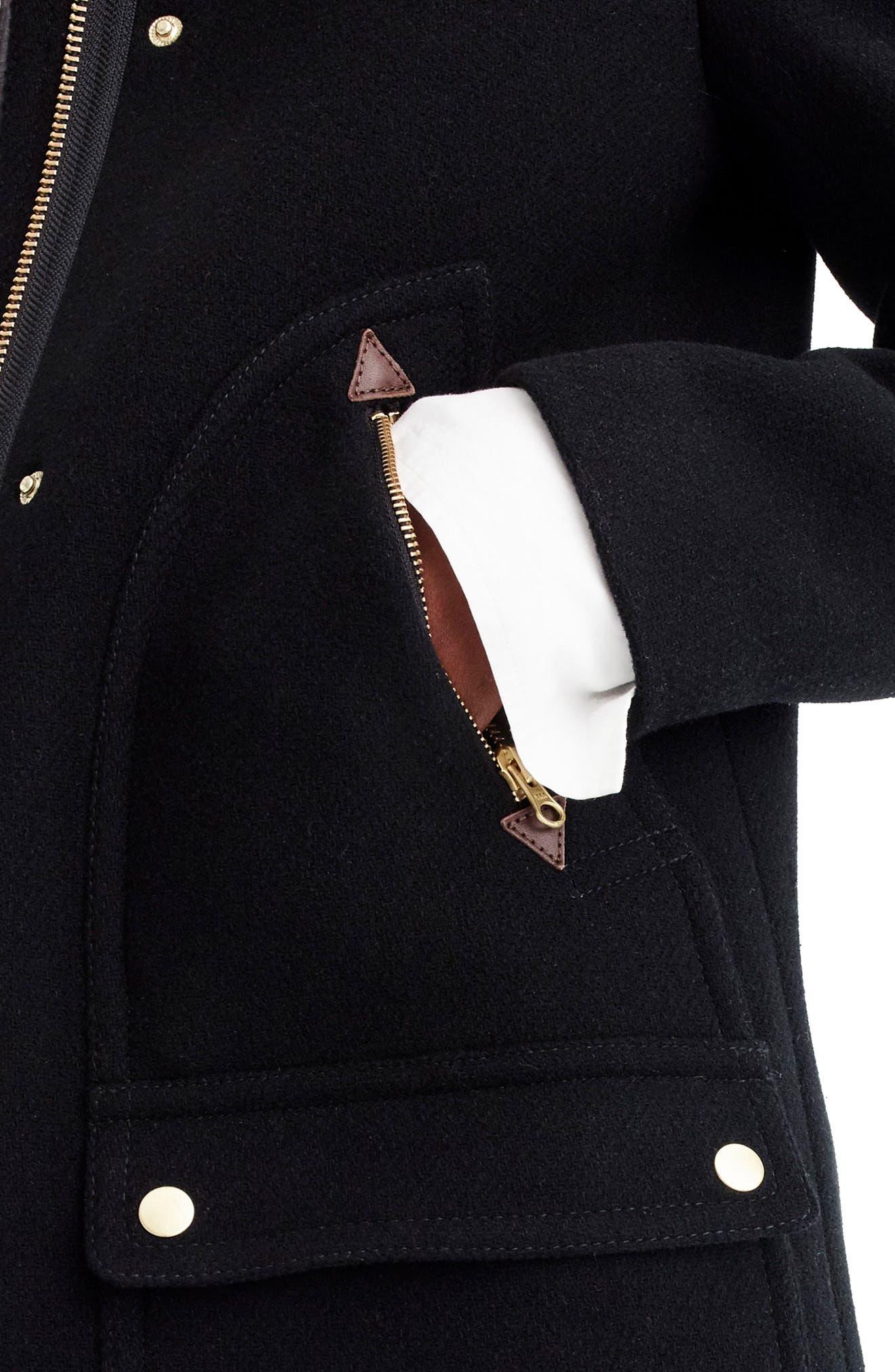 Chateau Stadium Cloth Parka with Faux Fur Trim,                             Alternate thumbnail 18, color,