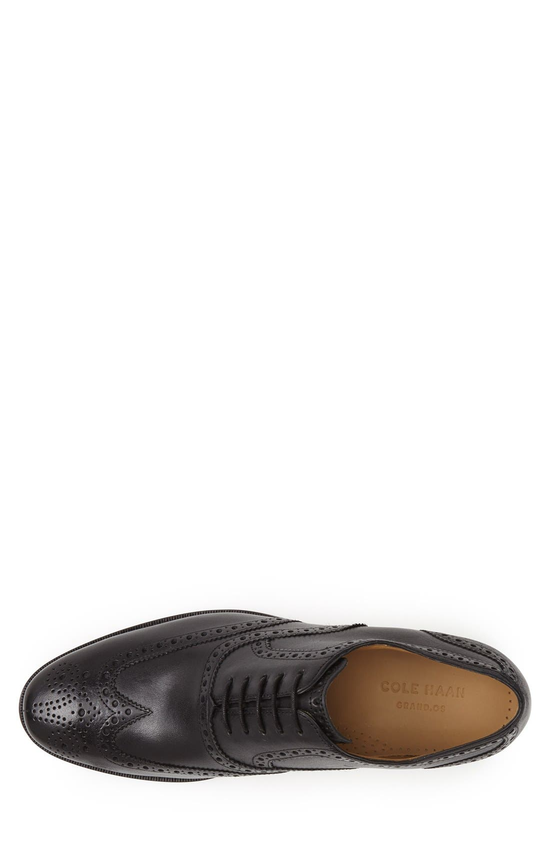 'Cambridge' Wingtip,                             Alternate thumbnail 3, color,                             BLACK