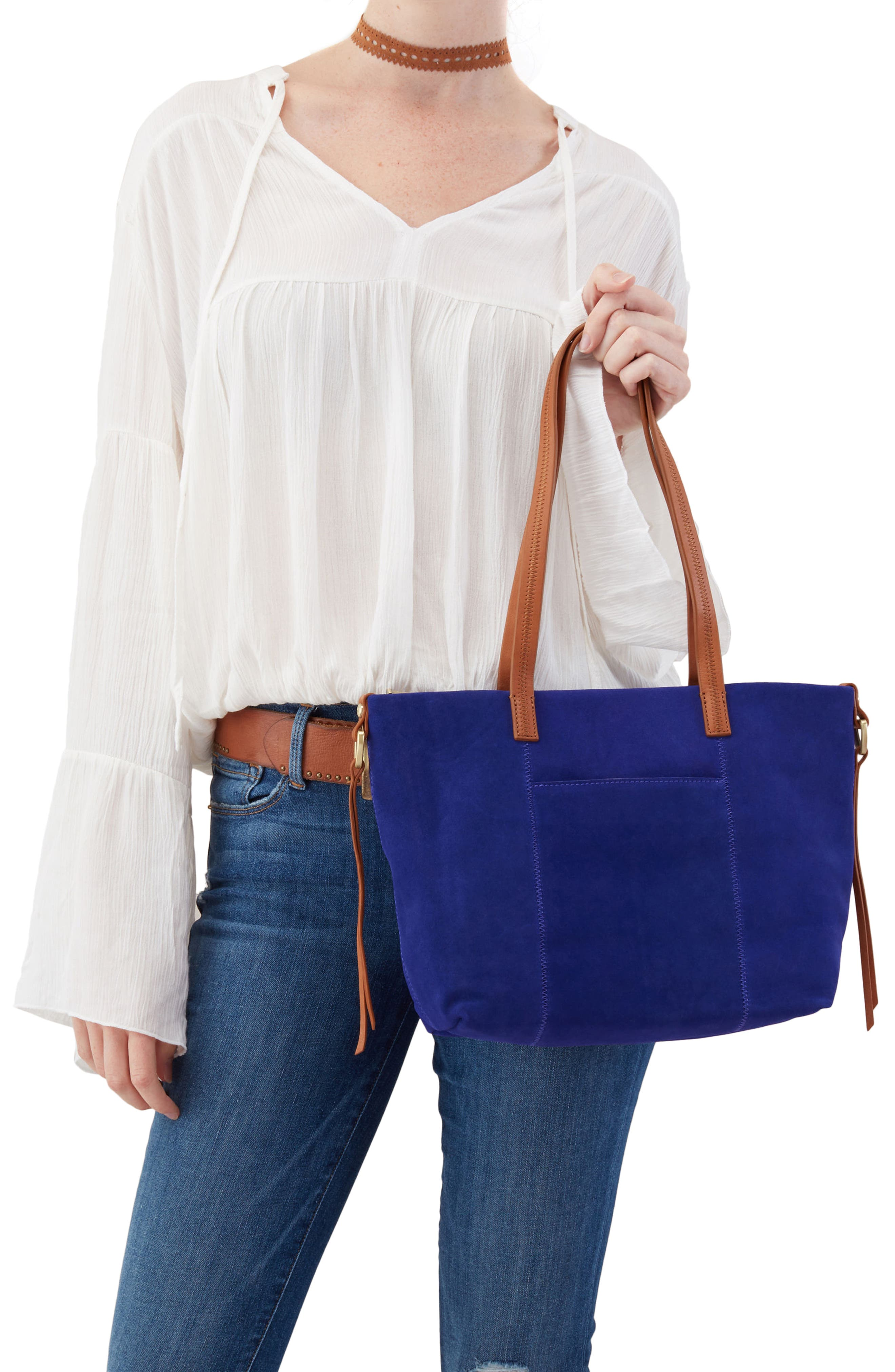 Cecily Leather Tote,                             Alternate thumbnail 8, color,