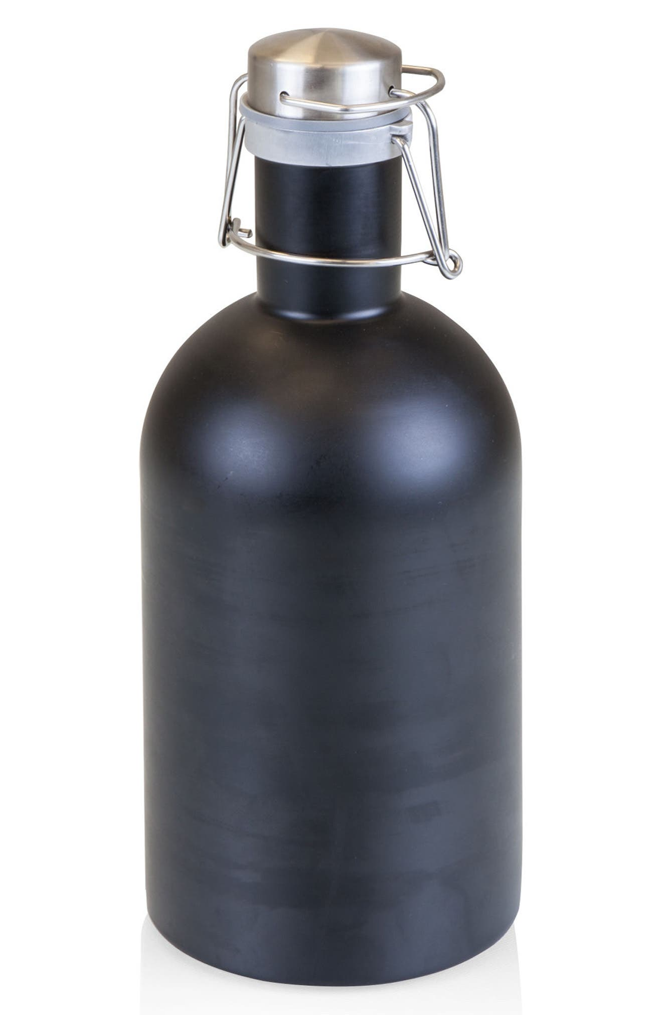64-Ounce Stainless Steel Growler,                         Main,                         color, BLACK