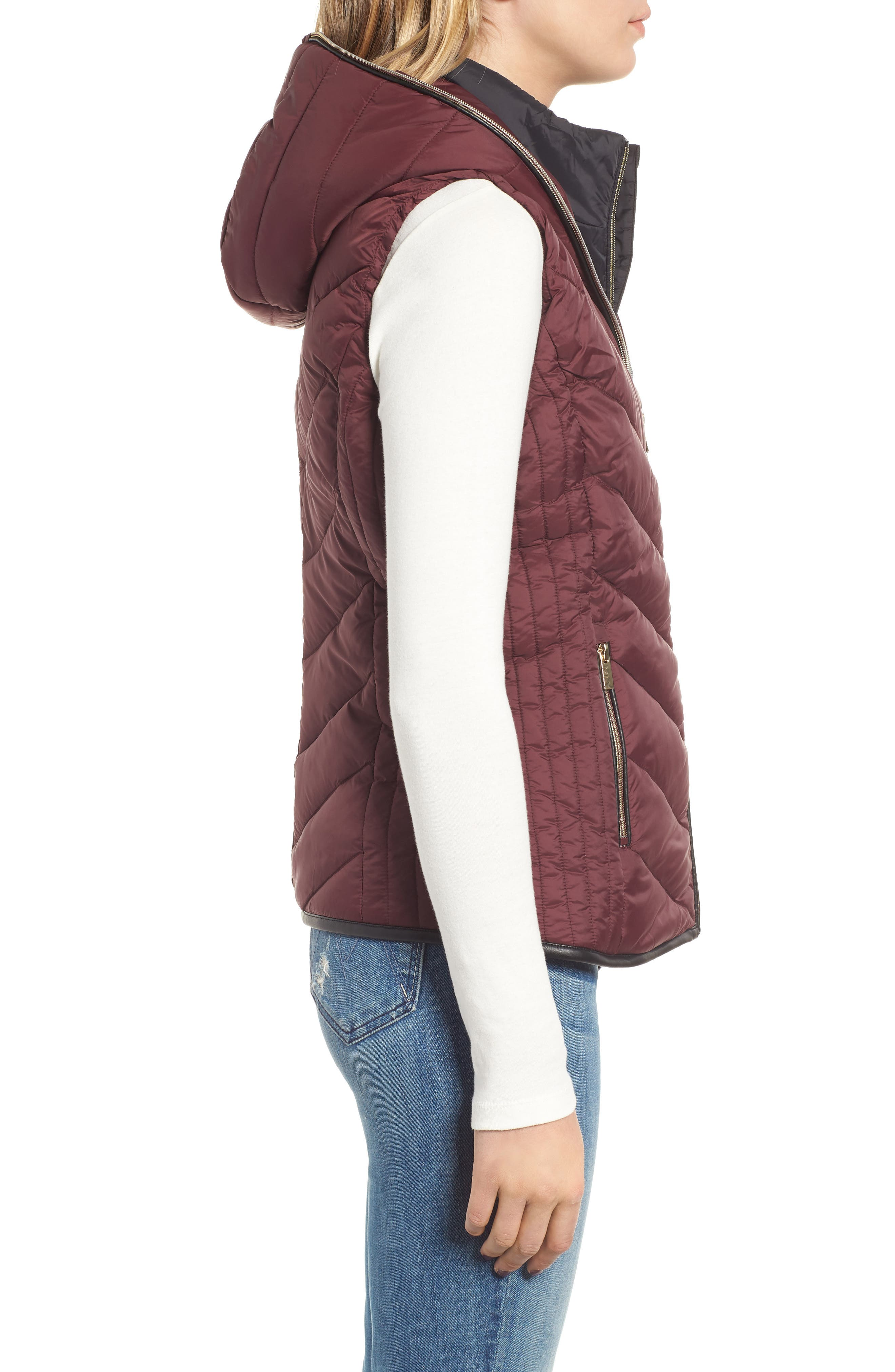 Hooded Puffer Vest,                             Alternate thumbnail 3, color,                             619