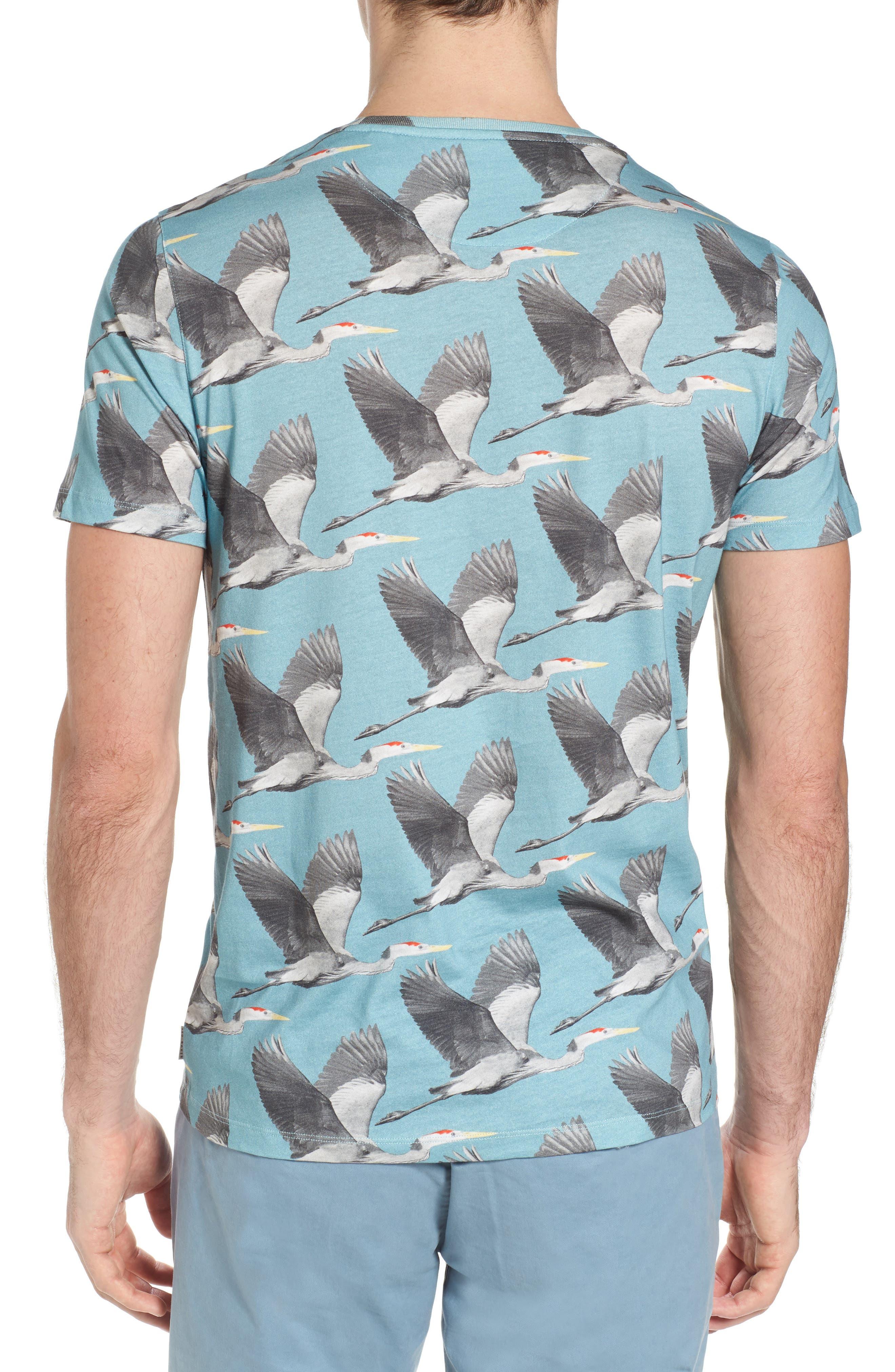 Flute Blue Heron Print T-Shirt,                             Alternate thumbnail 2, color,                             424