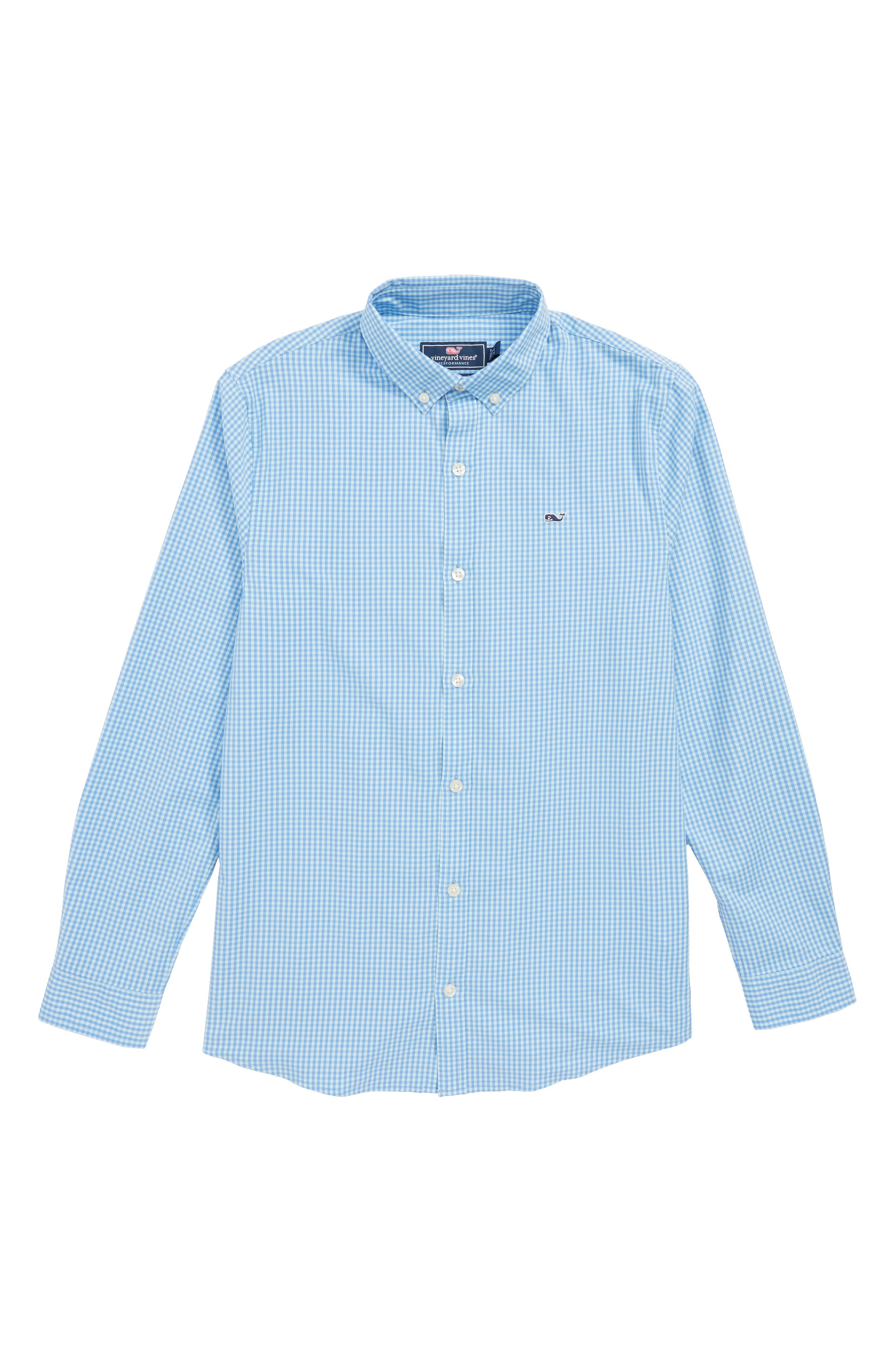 Mink Meadow Check Performance Sport Shirt,                             Main thumbnail 1, color,                             400