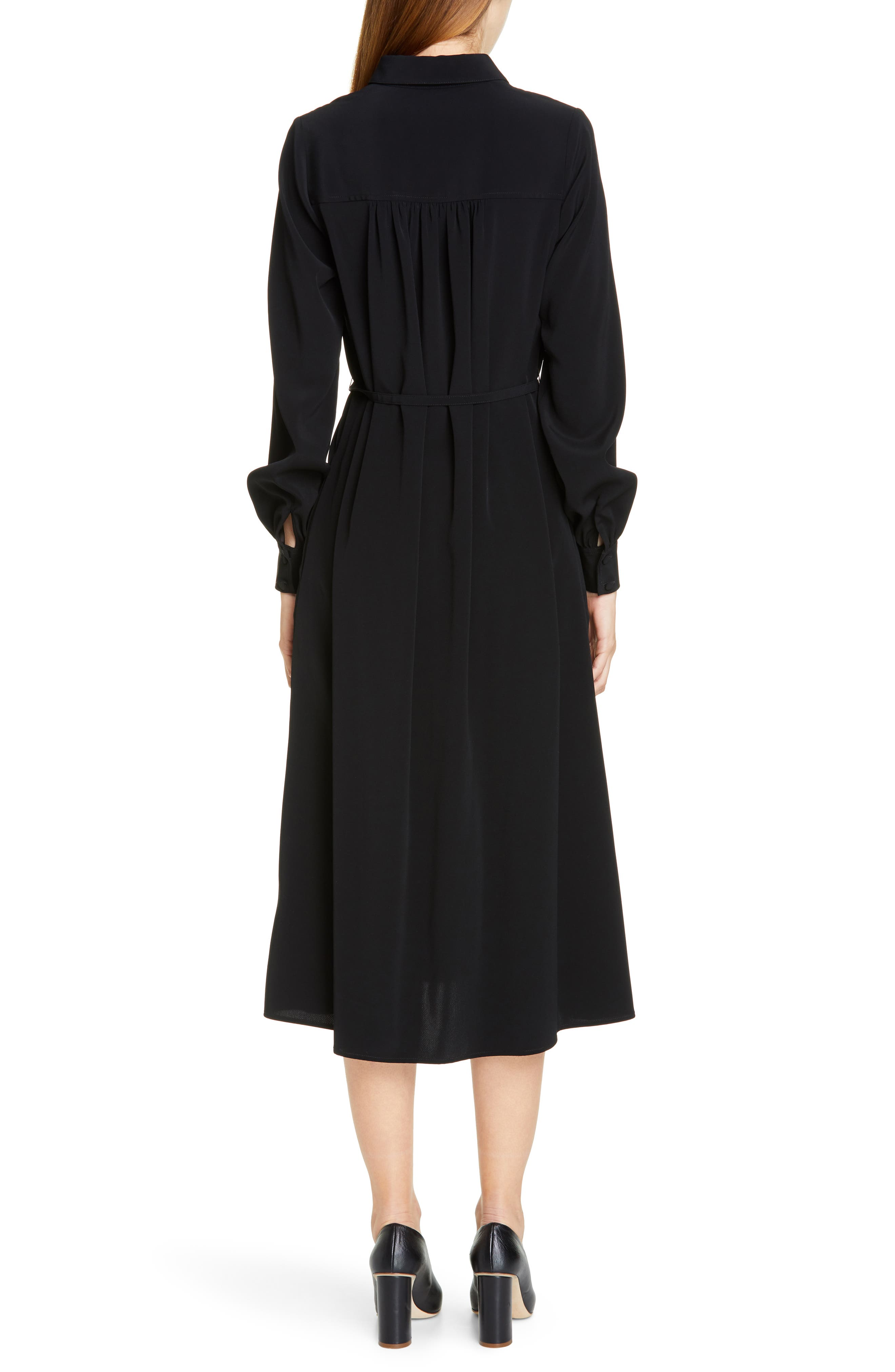 CO,                             Belted Shirtdress,                             Alternate thumbnail 2, color,                             BLACK