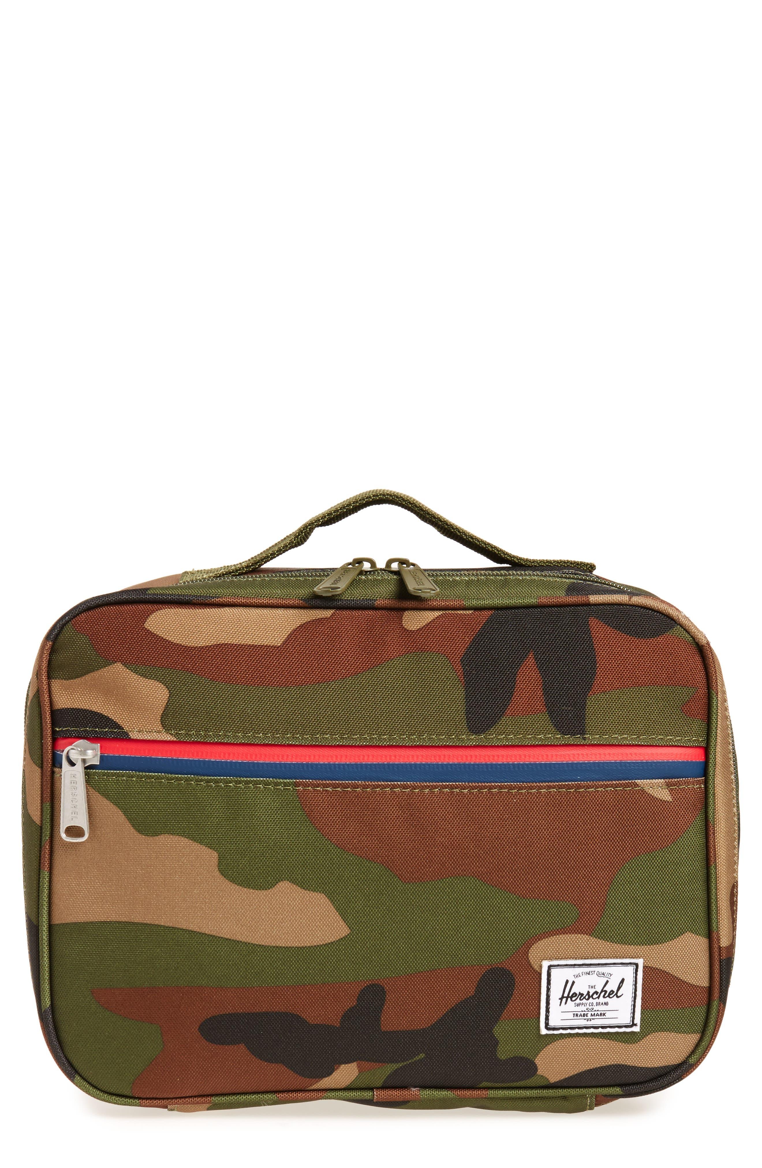 Pop Quiz Lunchbox,                         Main,                         color, WOODLAND CAMO/ MULTI