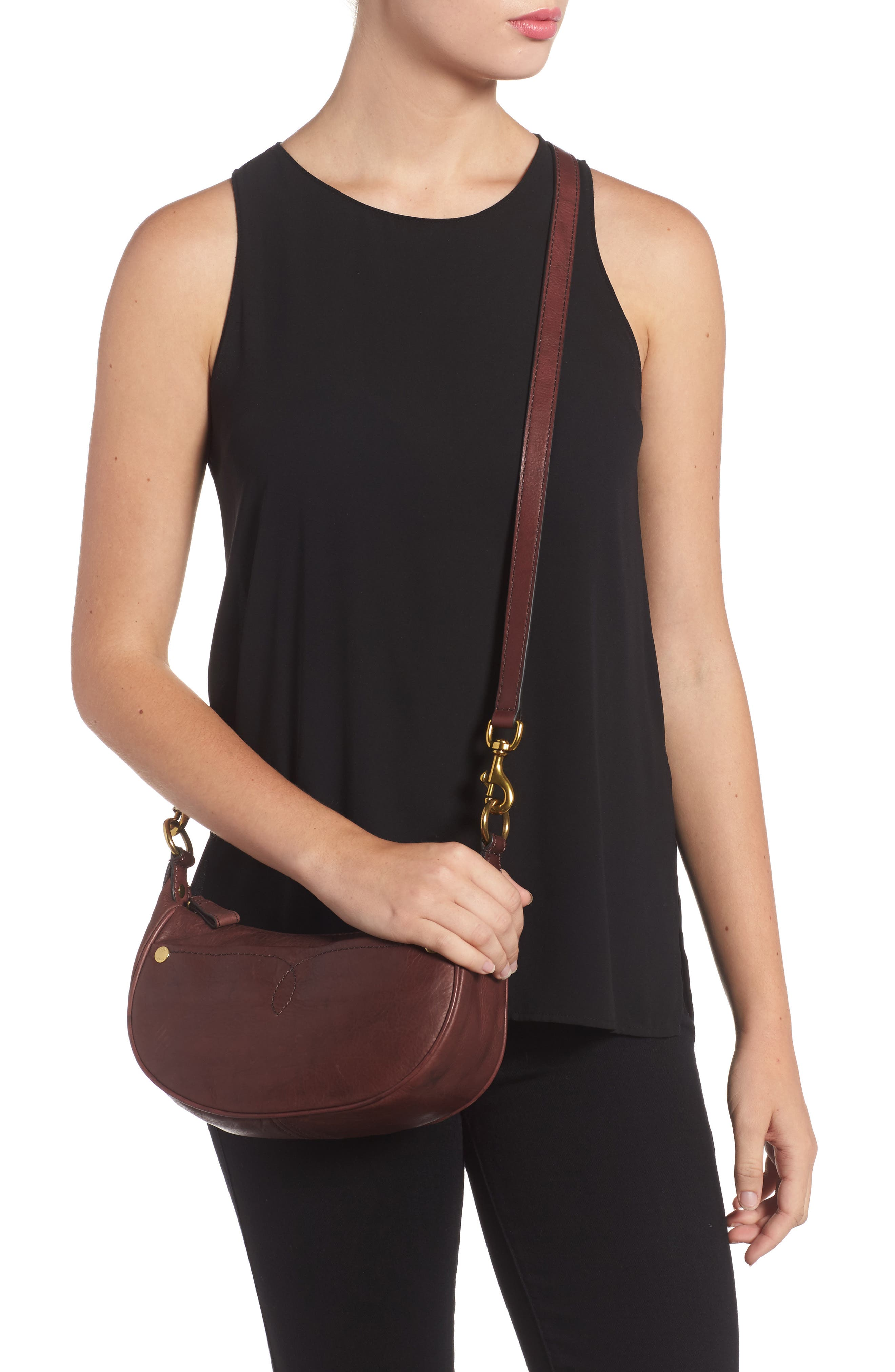 Small Campus Leather Crossbody Bag,                             Alternate thumbnail 2, color,                             210