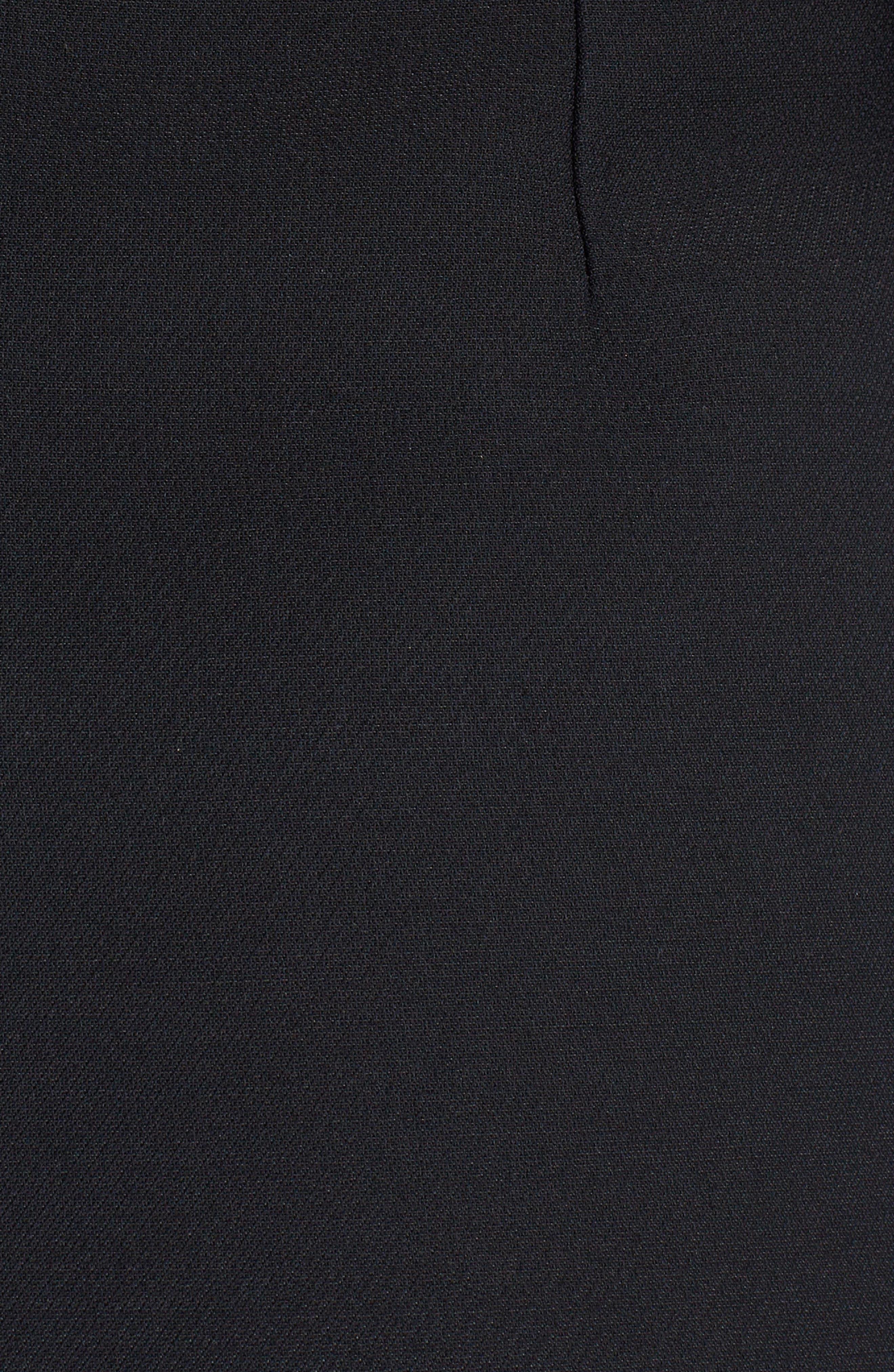 Embellished Wool & Silk Gazar Dress,                             Alternate thumbnail 5, color,                             001