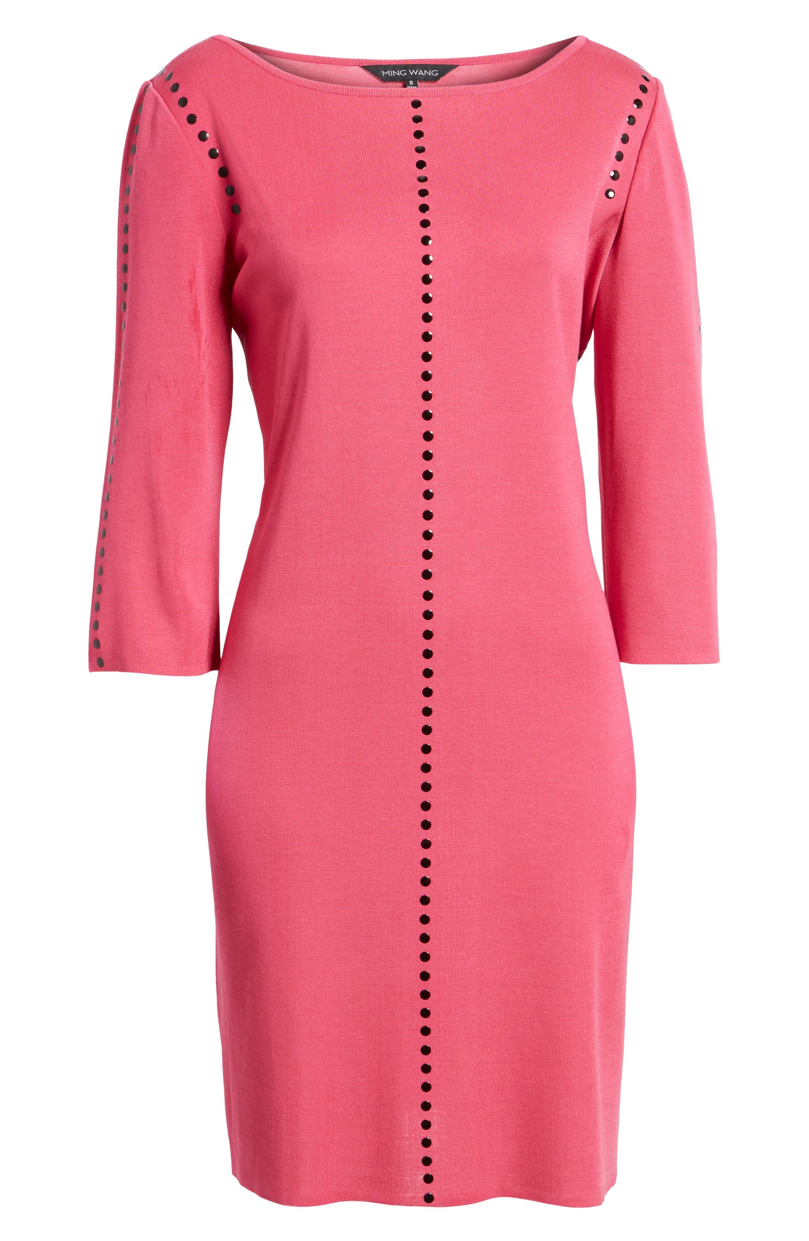 Studded Sweater Dress,                             Alternate thumbnail 6, color,                             643