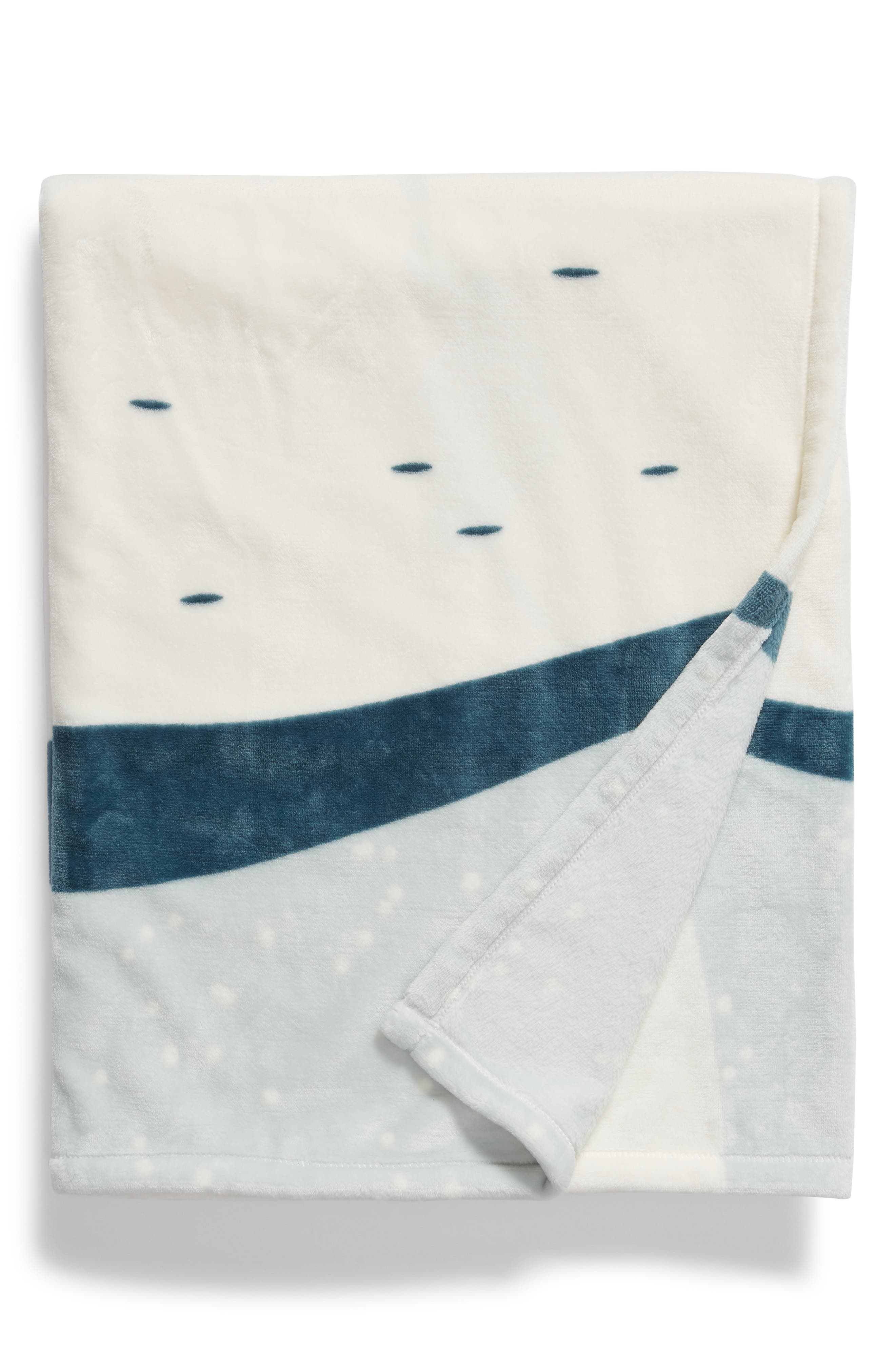 NORDSTROM AT HOME Penguin Suit Plush Throw, Main, color, TEAL MIST PENGUIN