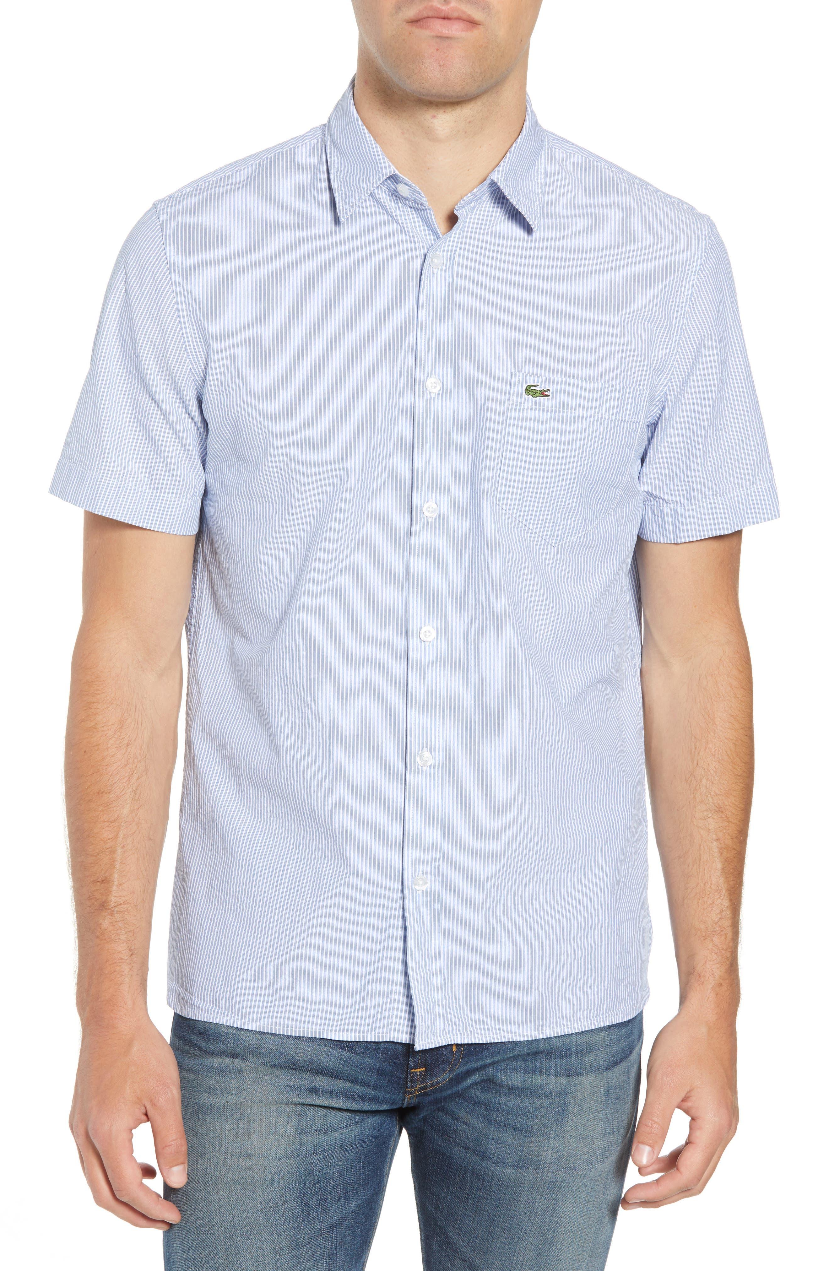 Regular Fit Seersucker Sport Shirt,                             Main thumbnail 1, color,                             400