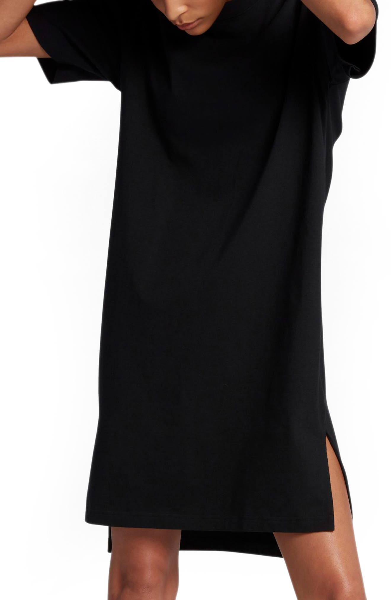 NikeLab Essentials T-Shirt Dress,                             Alternate thumbnail 3, color,                             010