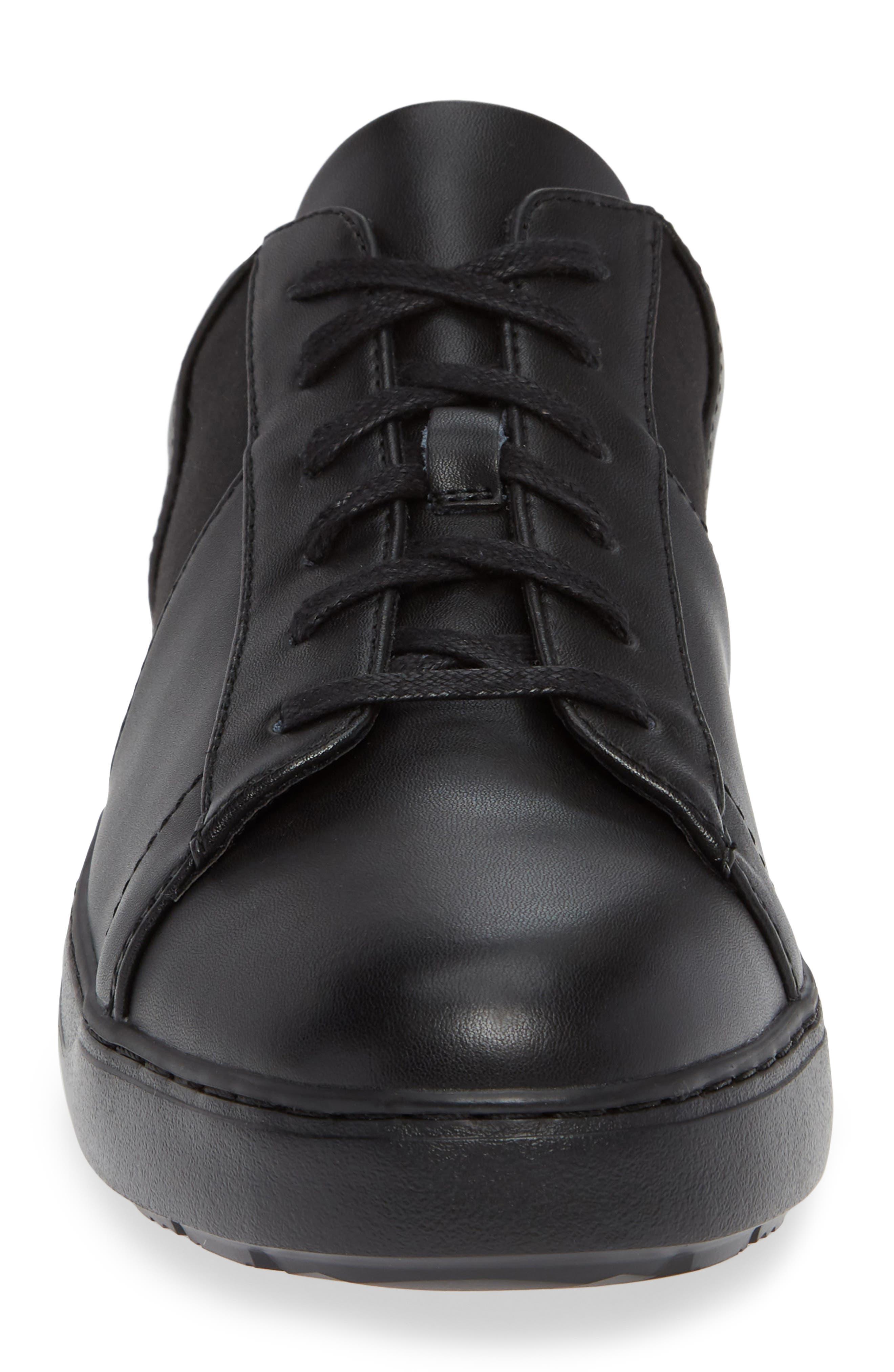 Sammy 2 Sneaker,                             Alternate thumbnail 4, color,                             BLACK LEATHER